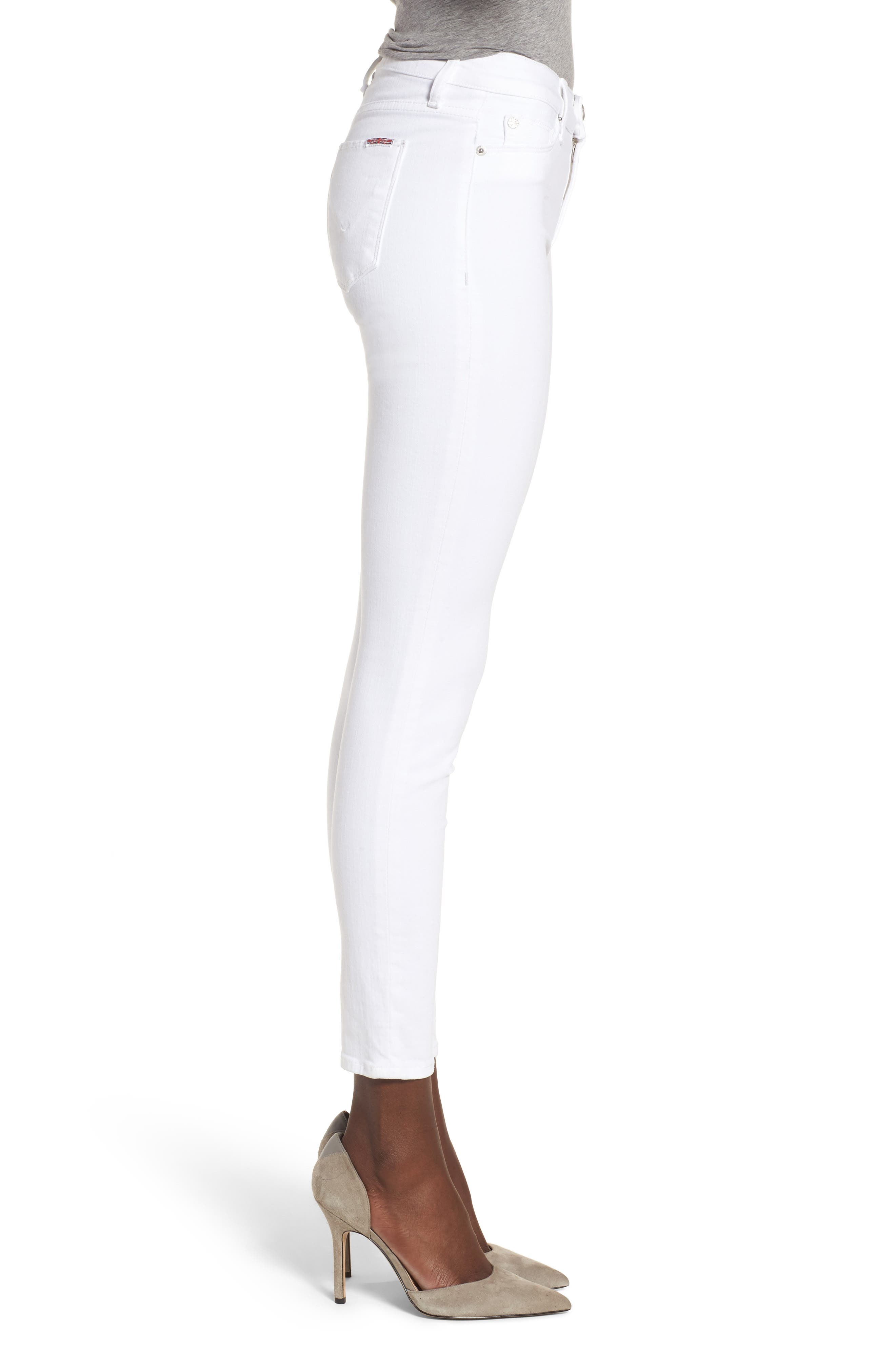 Nico Ankle Super Skinny Jeans,                             Alternate thumbnail 3, color,                             Optical White