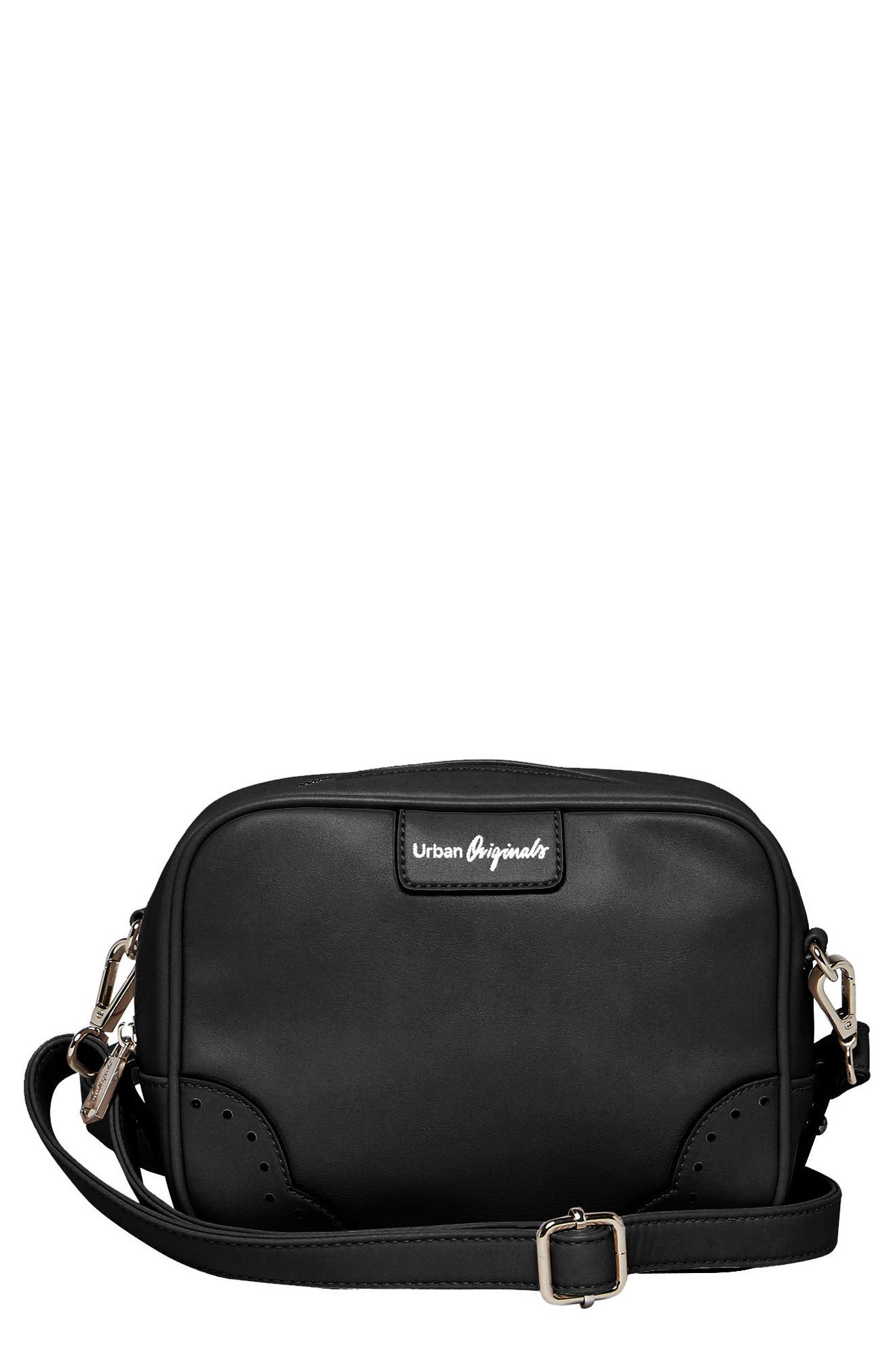 Alternate Image 1 Selected - Urban Originals Splendour Vegan Leather Crossbody Bag