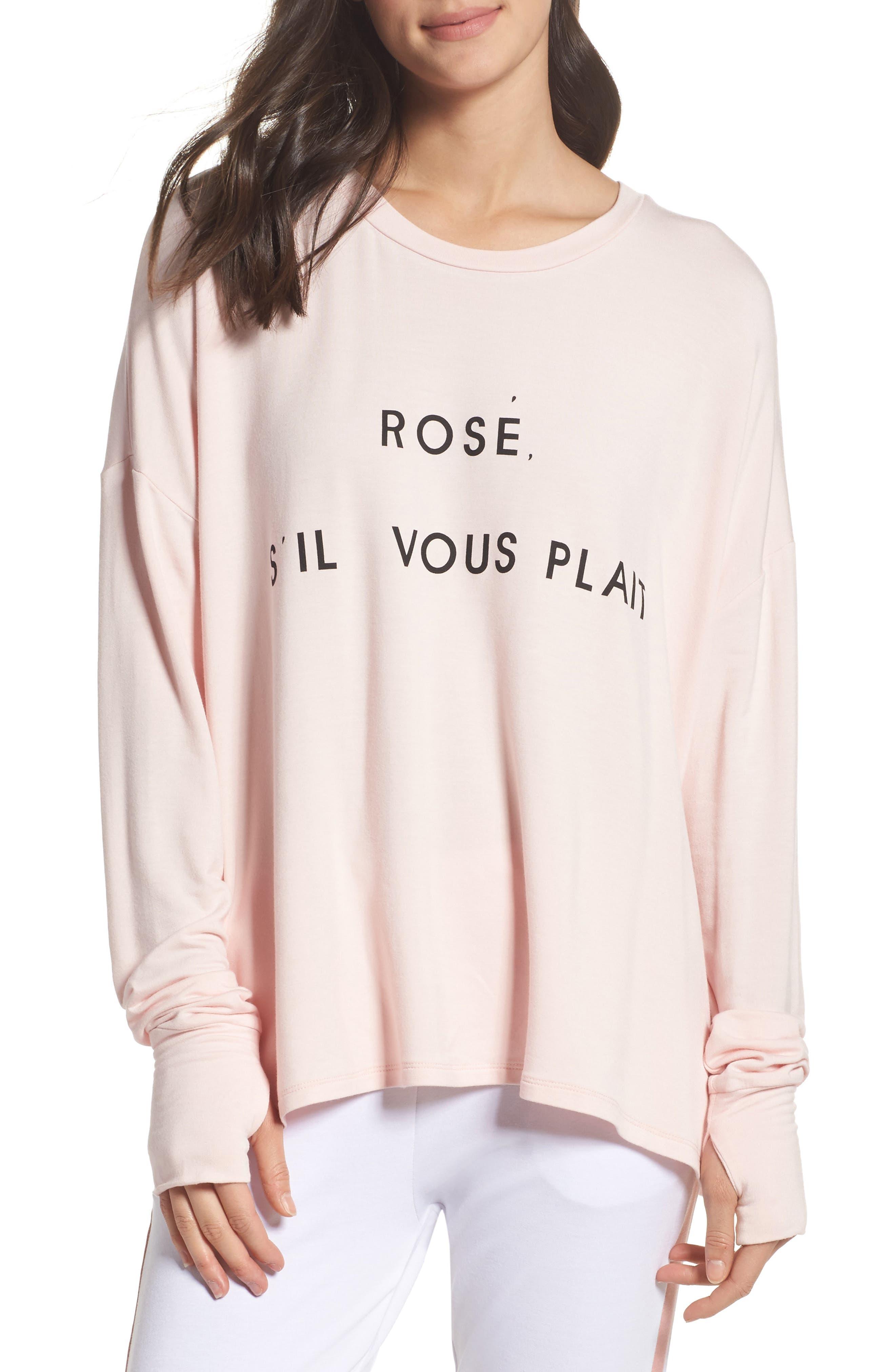 Rosé Please Sweatshirt,                         Main,                         color, Shell