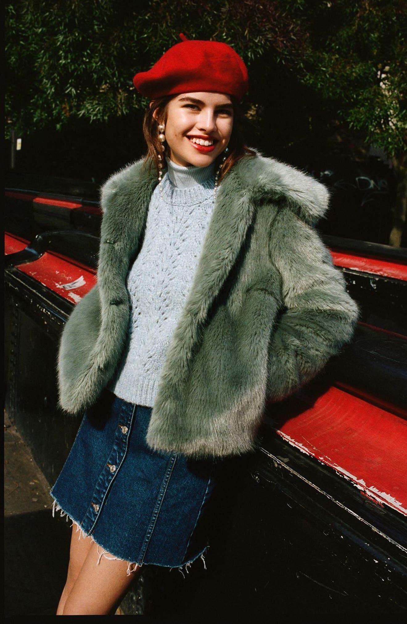 Alternate Image 6  - Topshop Claire Faux Fur Coat