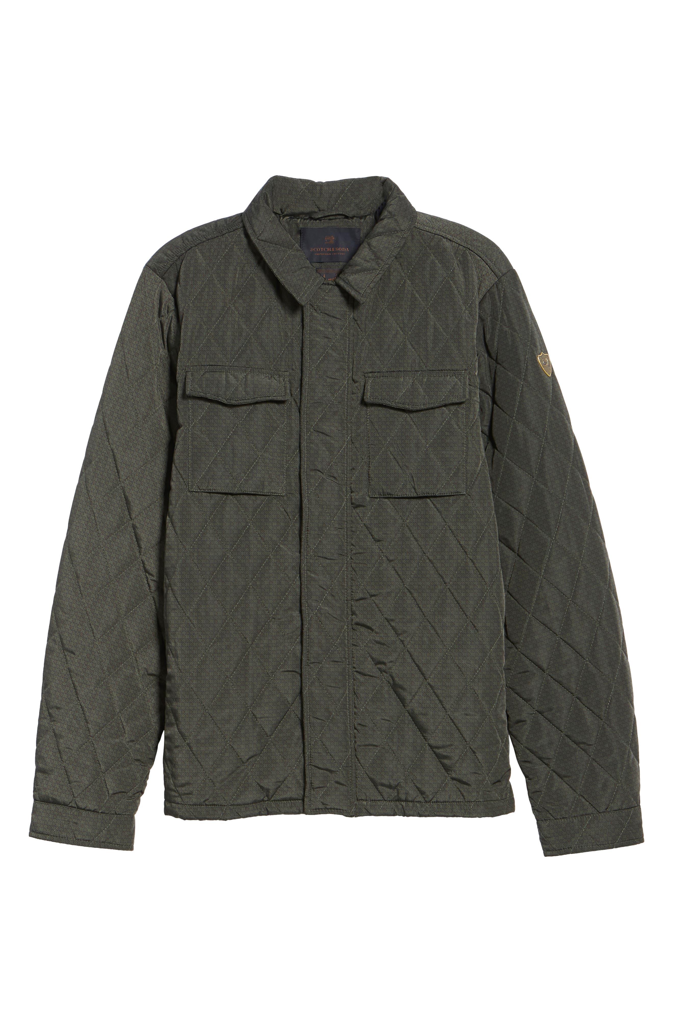 Alternate Image 6  - Scotch & Soda Lightweight Quilted Shirt Jacket