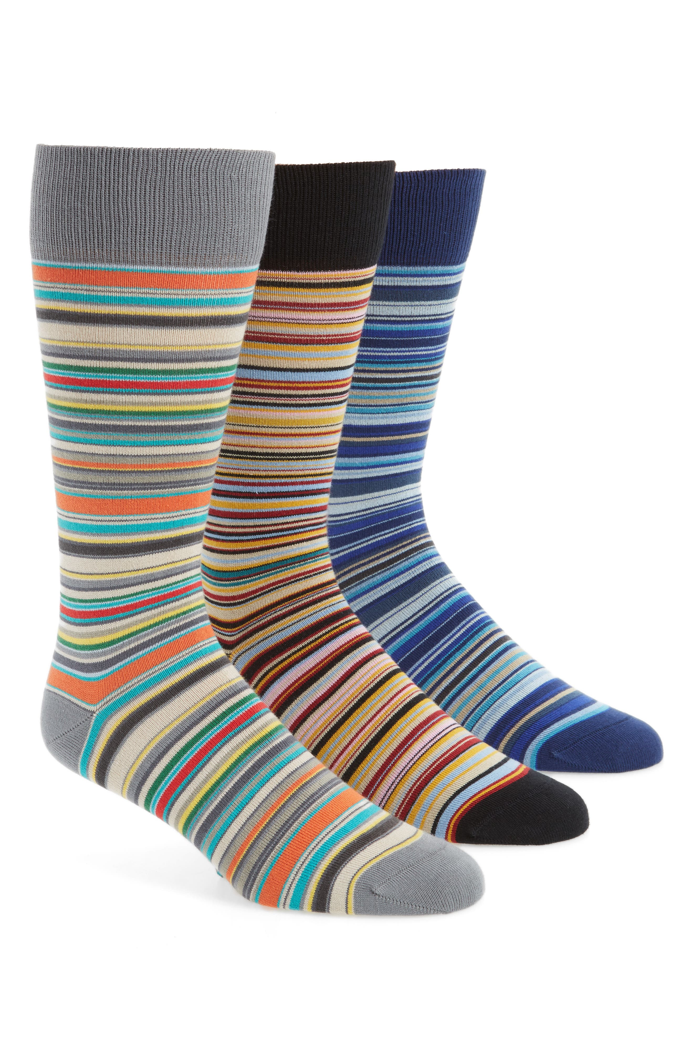 Paul Smith 3-Pack Mixed Pattern Socks ($90 Value)