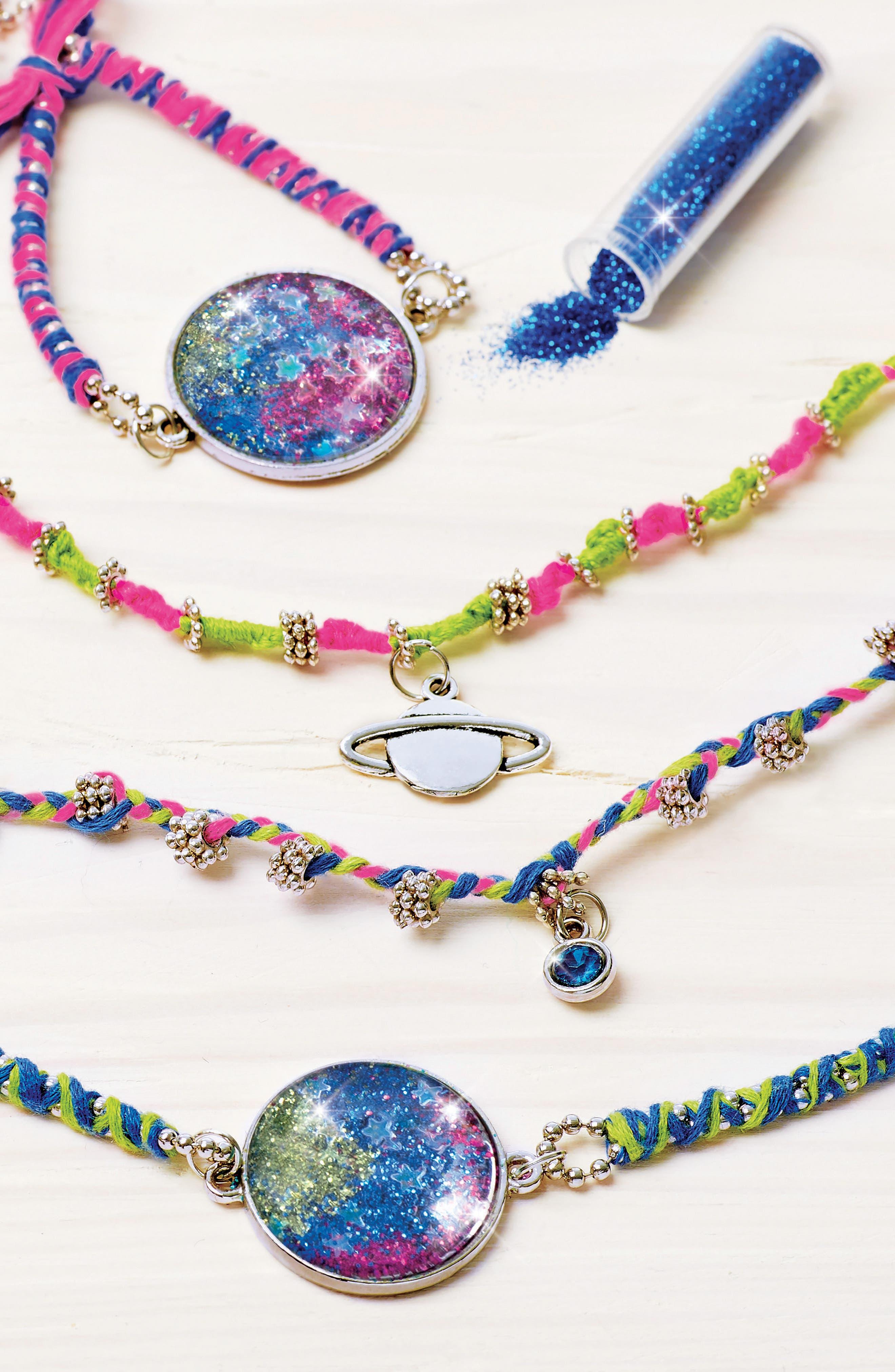 Starburst Glitter Jewelry Kit,                             Alternate thumbnail 3, color,                             Multi
