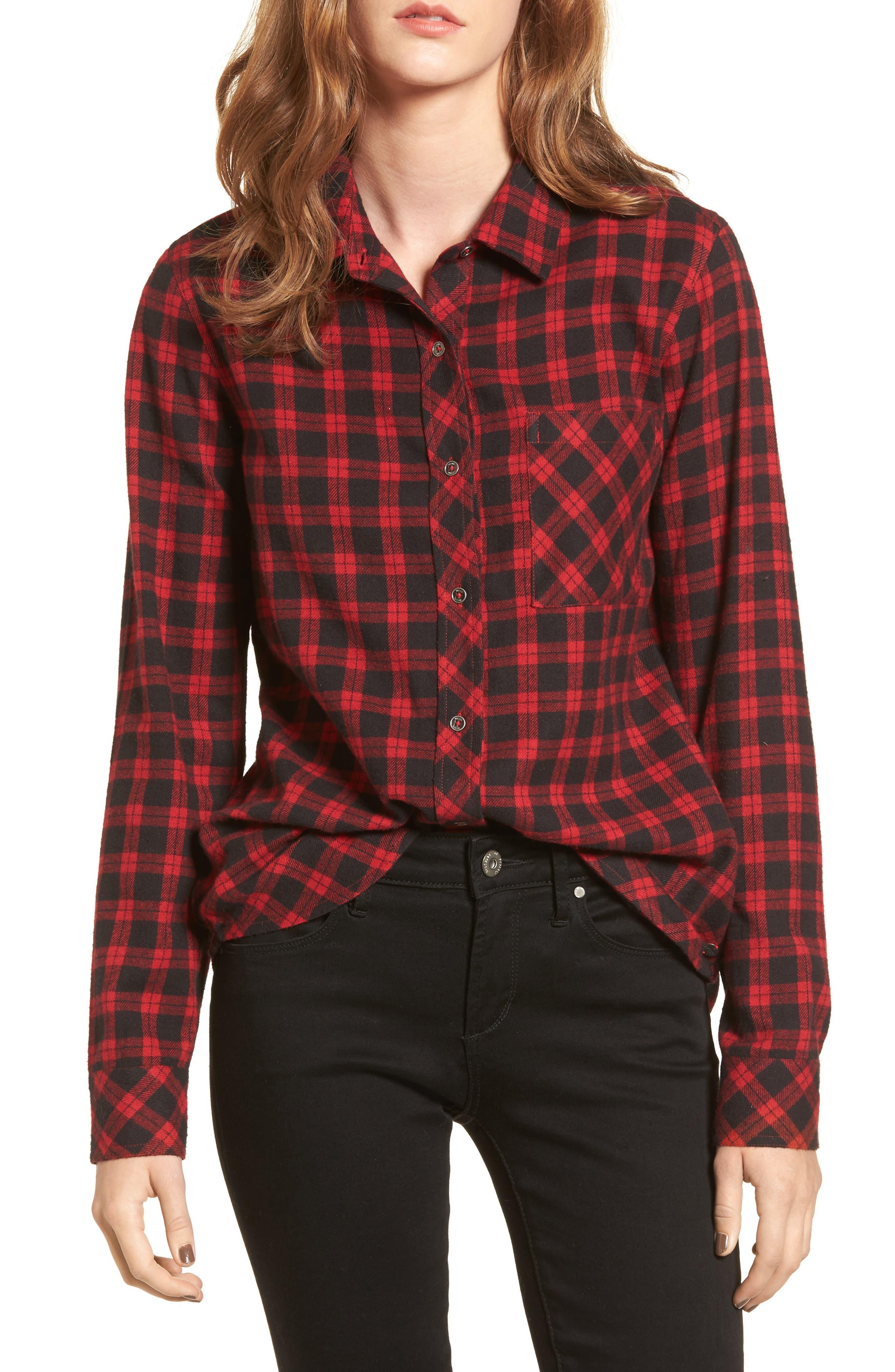 Main Image - Rip Curl Rhea Check Flannel Shirt