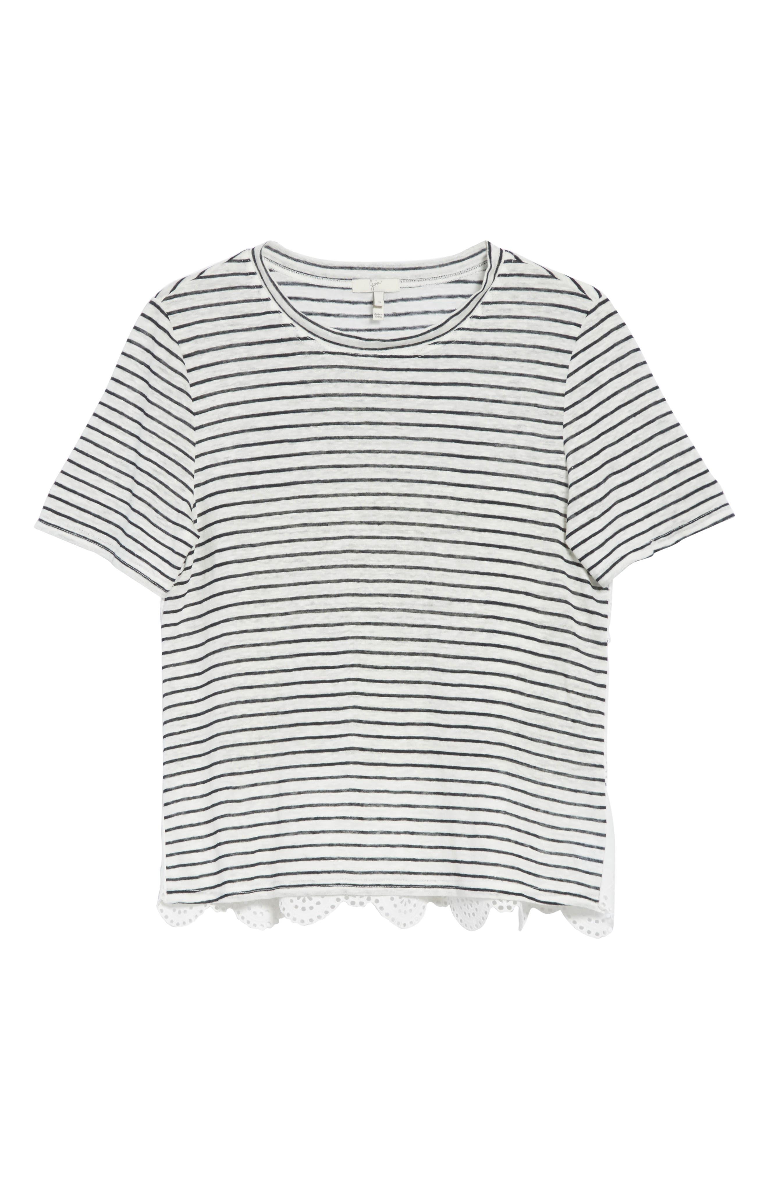 Alternate Image 6  - Joie Mikiyo Stripe Linen Tee