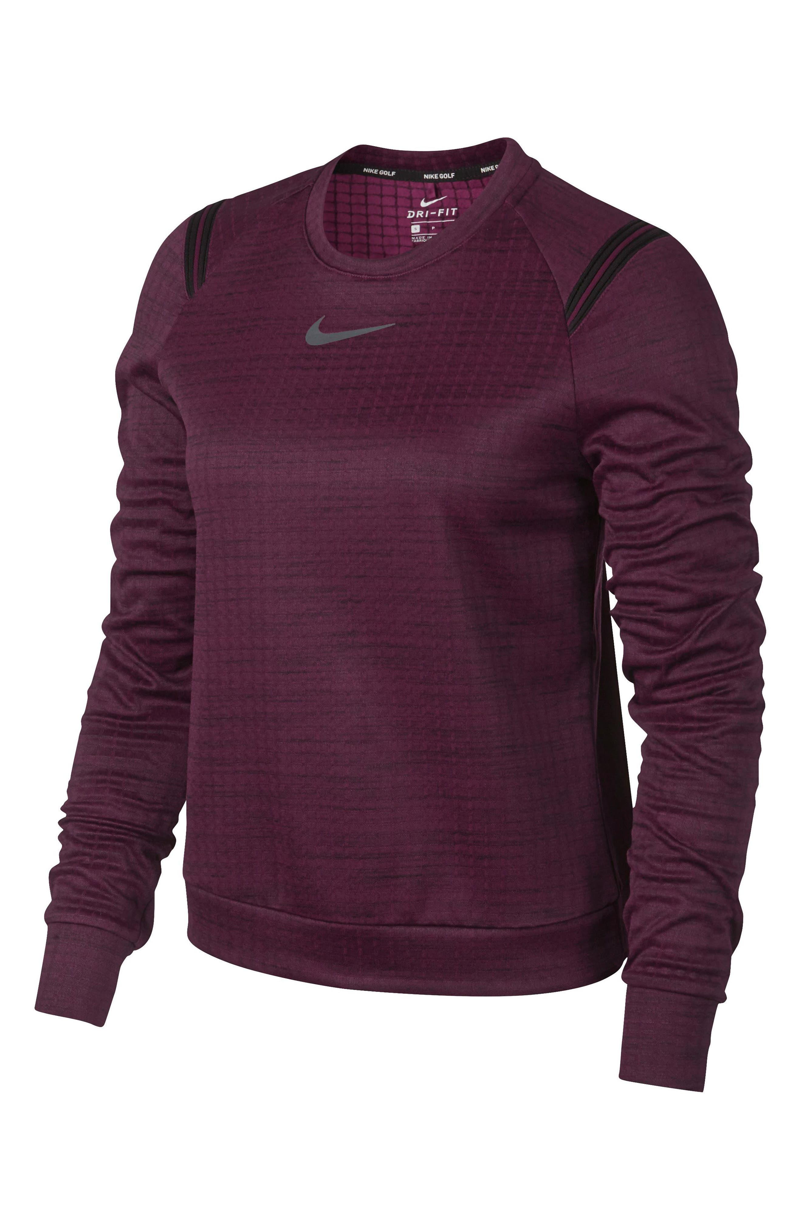 Therma Sphere Long Sleeve Top,                             Alternate thumbnail 4, color,                             Burgundy