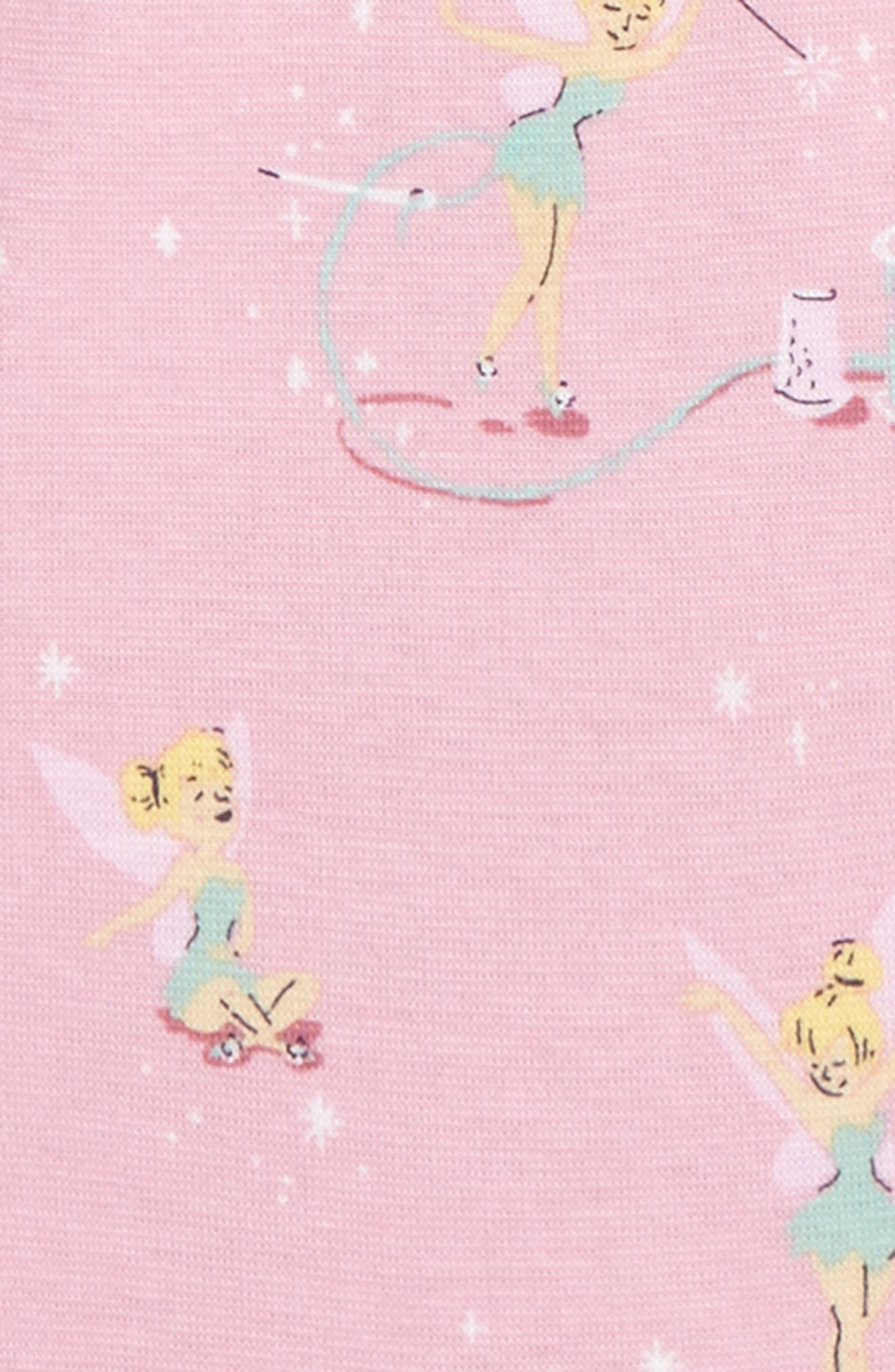 Disney – Tinkerbell Fitted Two-Piece Pajamas,                             Alternate thumbnail 2, color,                             Light Pink Tinkerbell