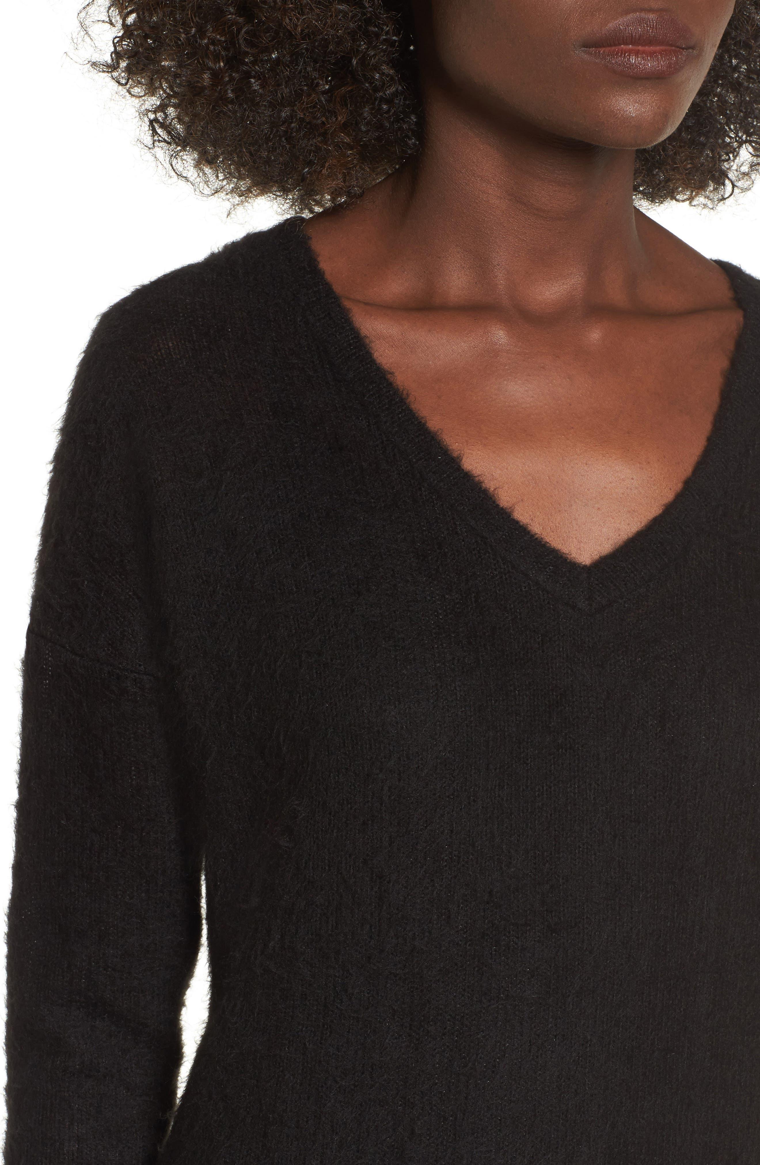Alternate Image 4  - Socialite Fuzzy Sweater Midi Dress