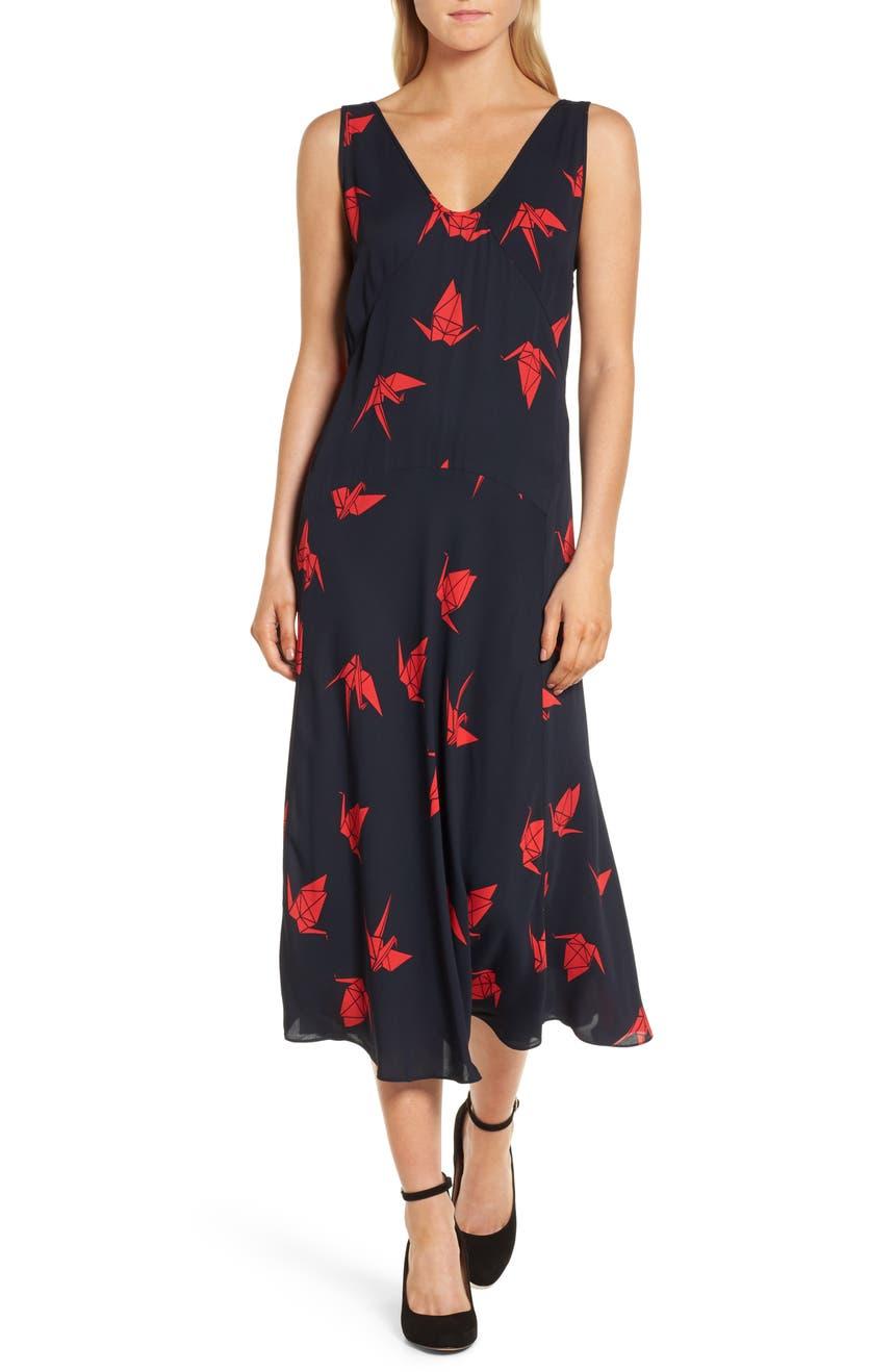 Lewit Print Midi Dress