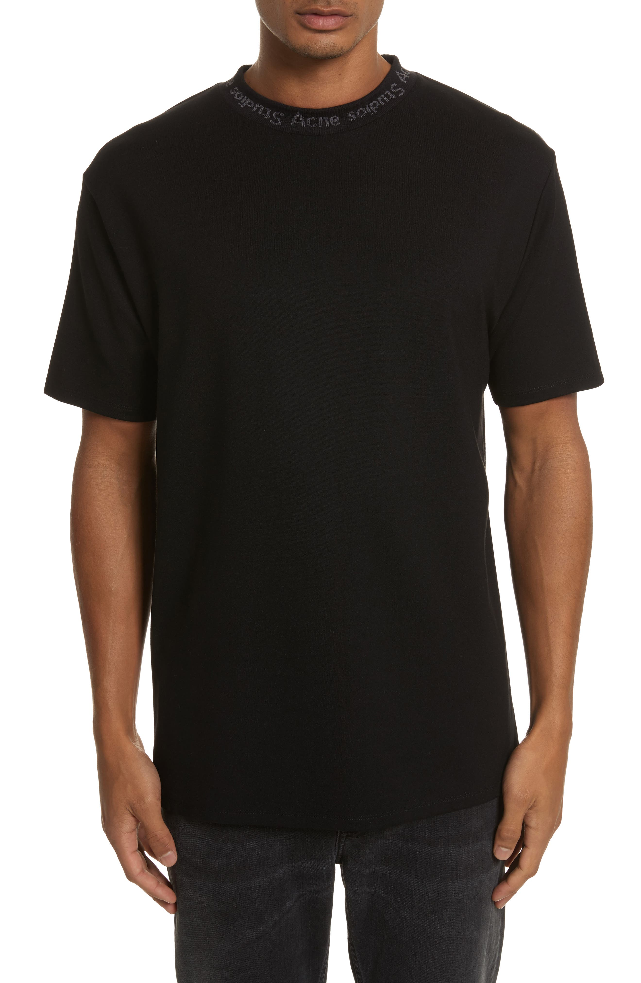 Alternate Image 1 Selected - Acne Studios Navid Logo Collar T-Shirt