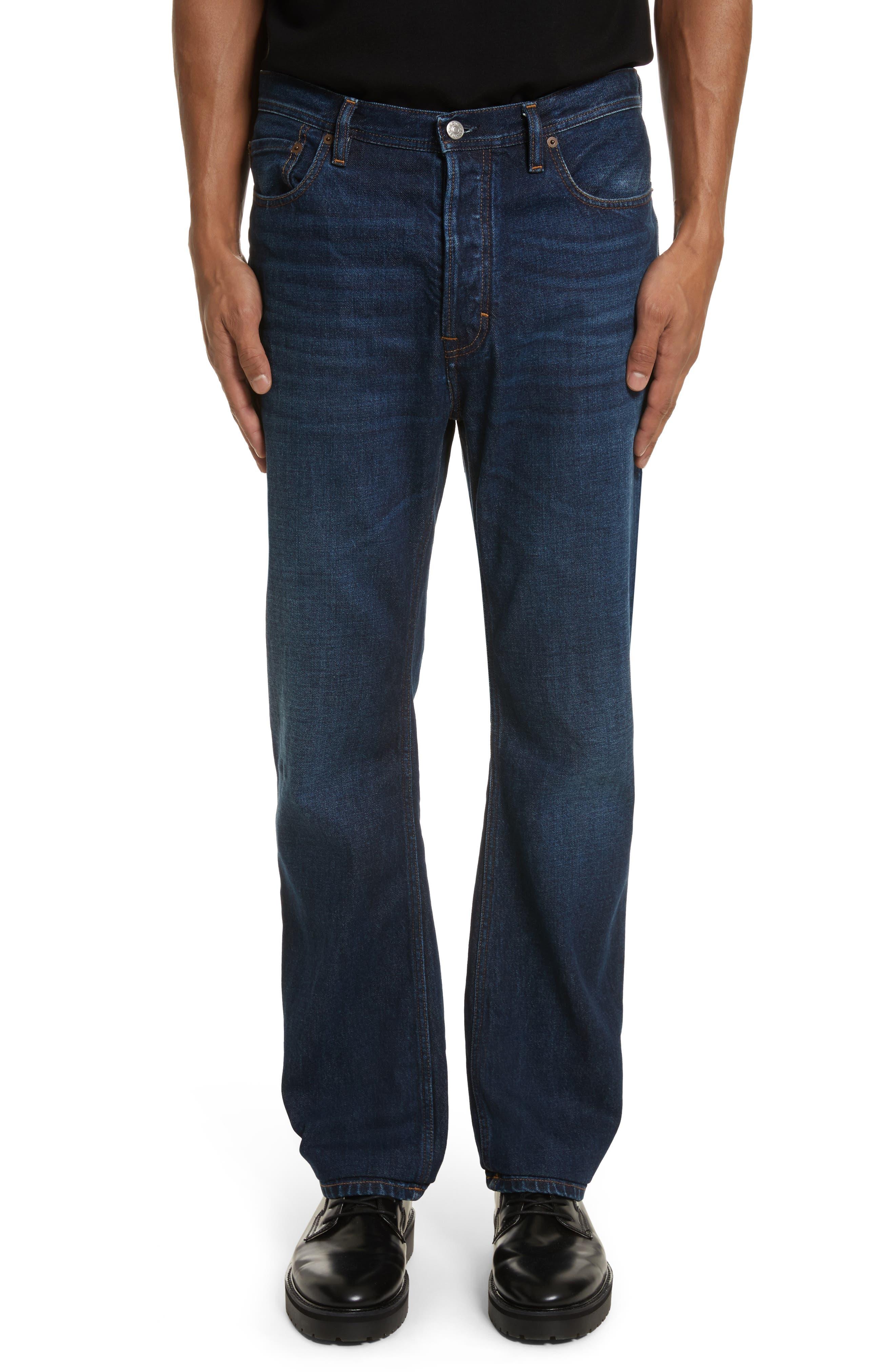 Land Classic Straight Leg Jeans,                         Main,                         color, 123 Dk Blue