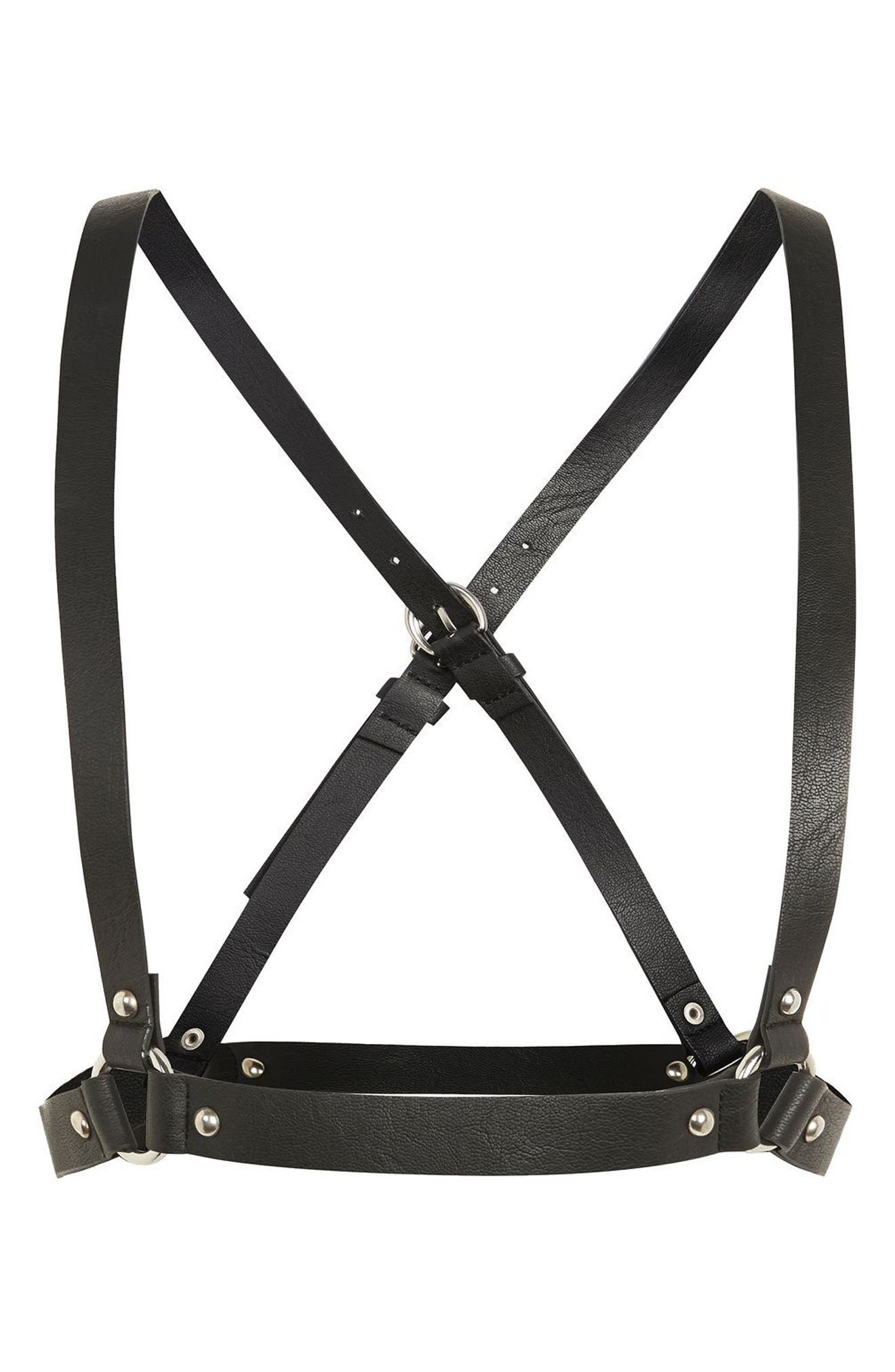 Topshop Cross Back Faux Leather Harness