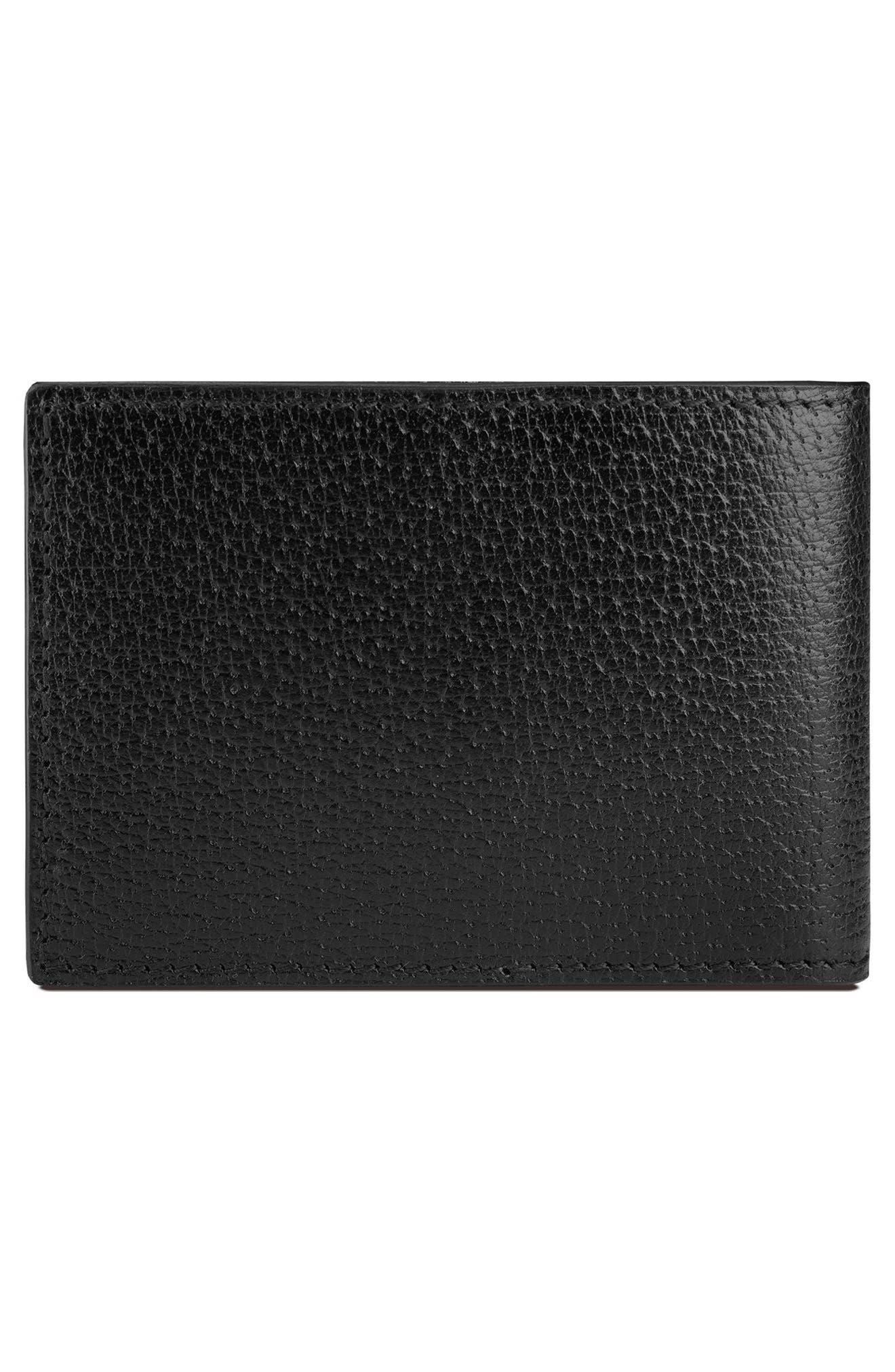 Marmont Leather Wallet,                             Alternate thumbnail 2, color,                             Black