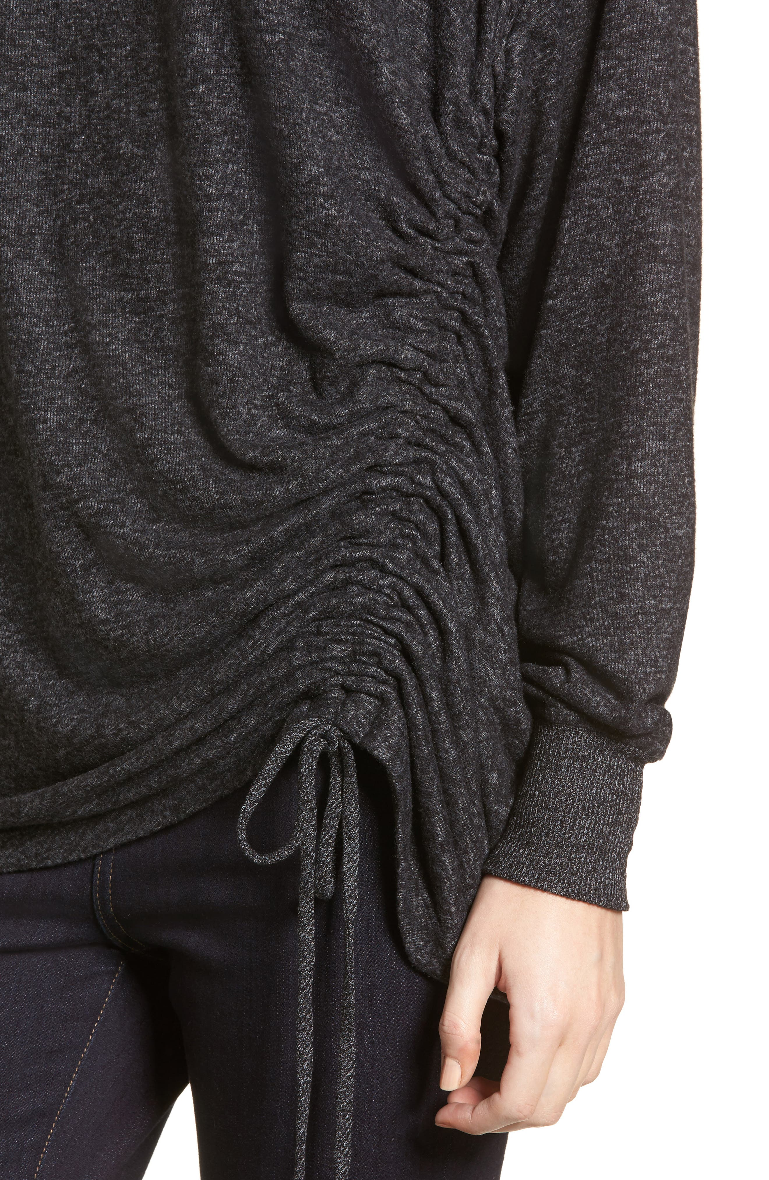 Alternate Image 4  - Treasure & Bond Side Cinch Sweatshirt