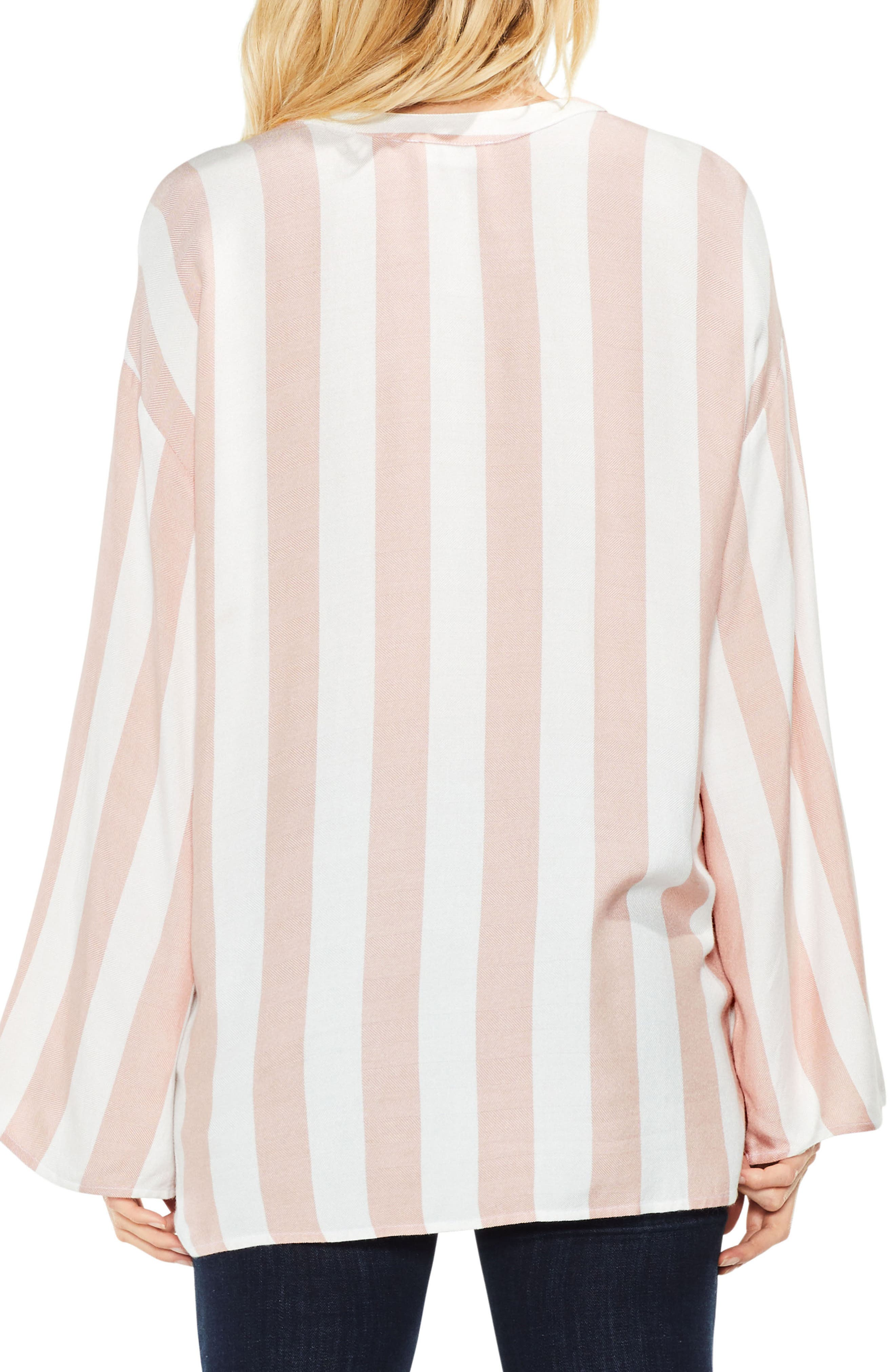 Alternate Image 4  - Two by Vince Camuto Bell Sleeve Top