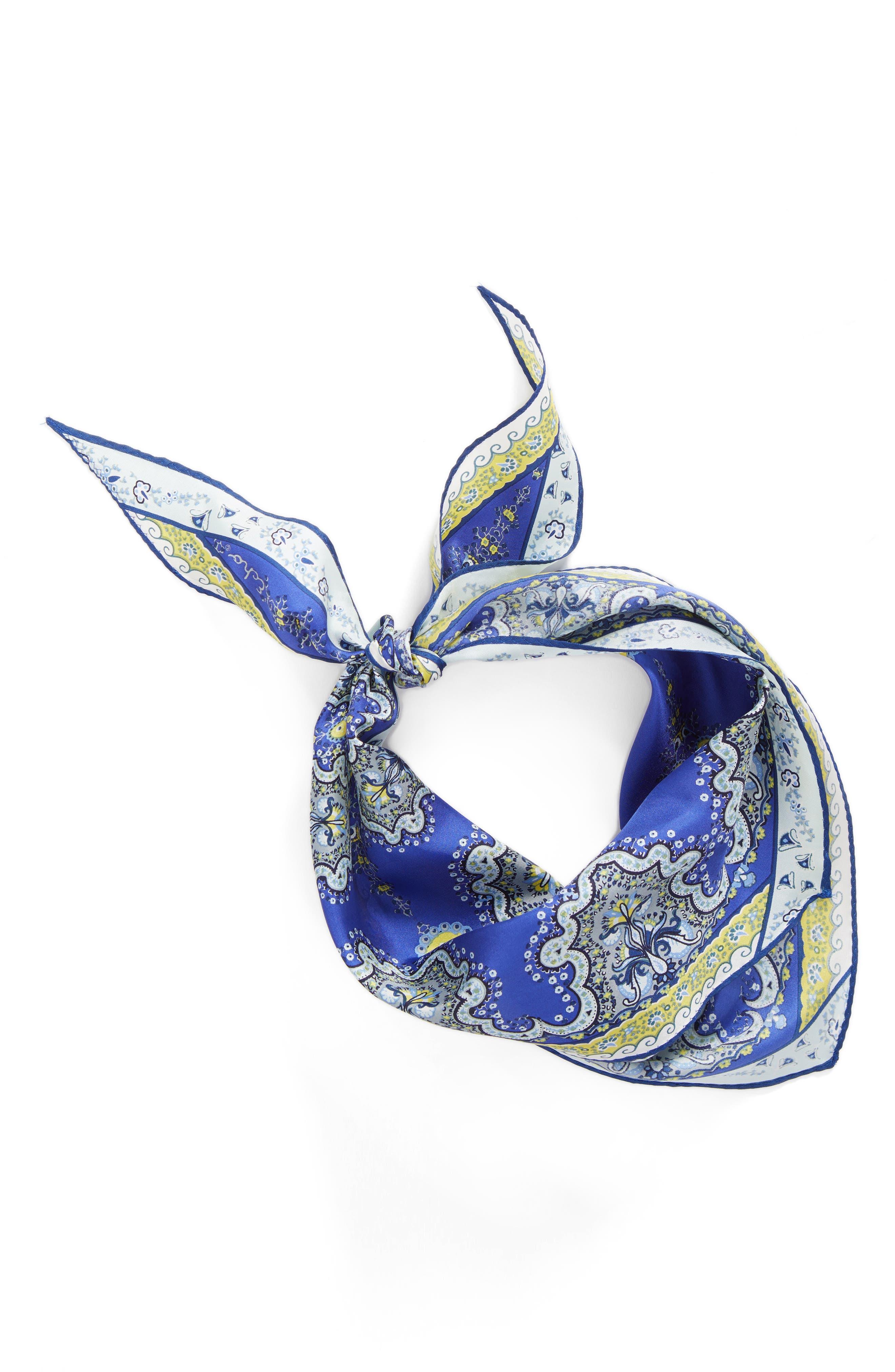 Alternate Image 2  - Echo Paisley Lace Diamond Silk Scarf