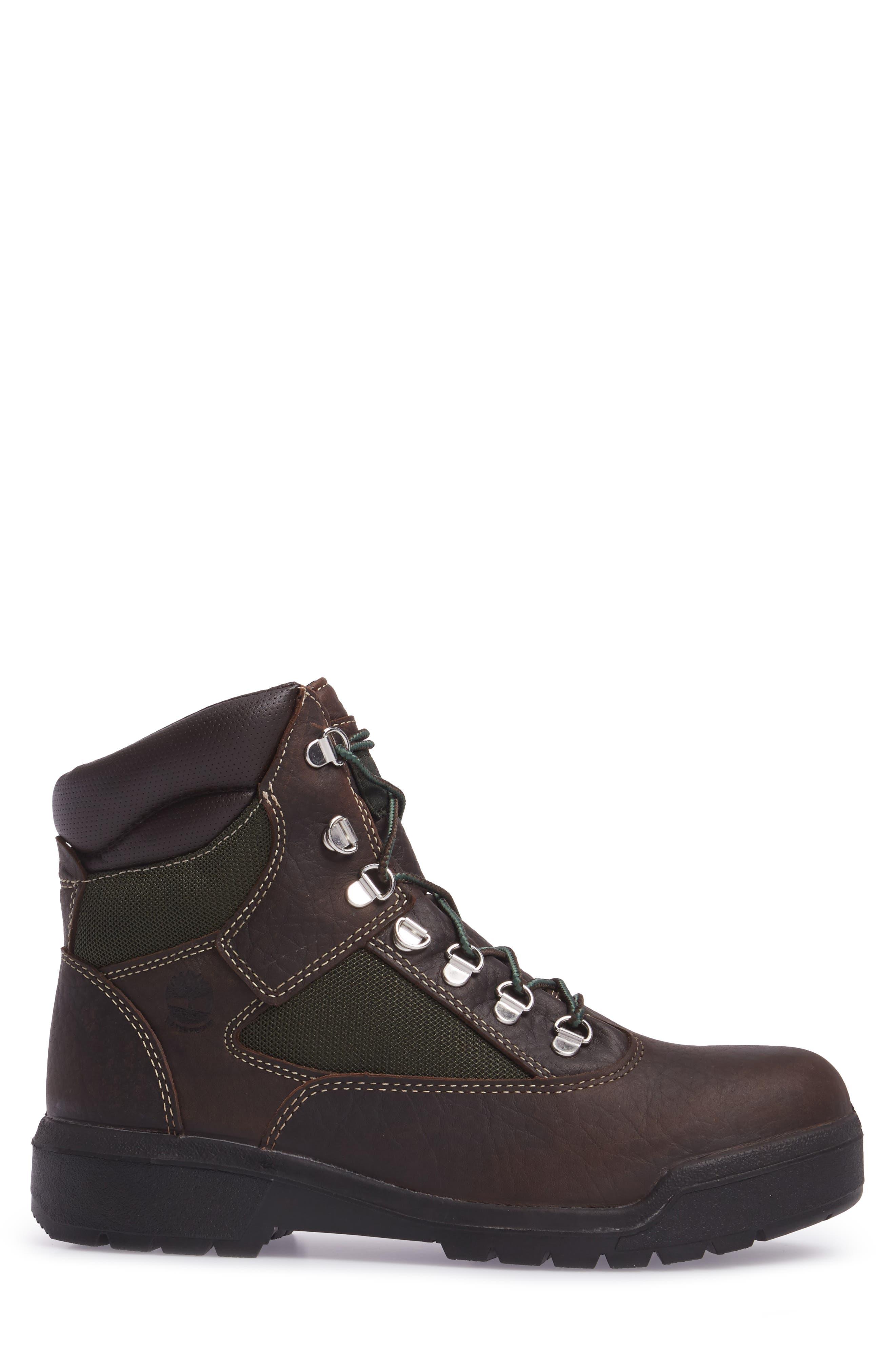 Field Waterproof Winter Boot,                             Alternate thumbnail 3, color,                             Hazel Highway Leather
