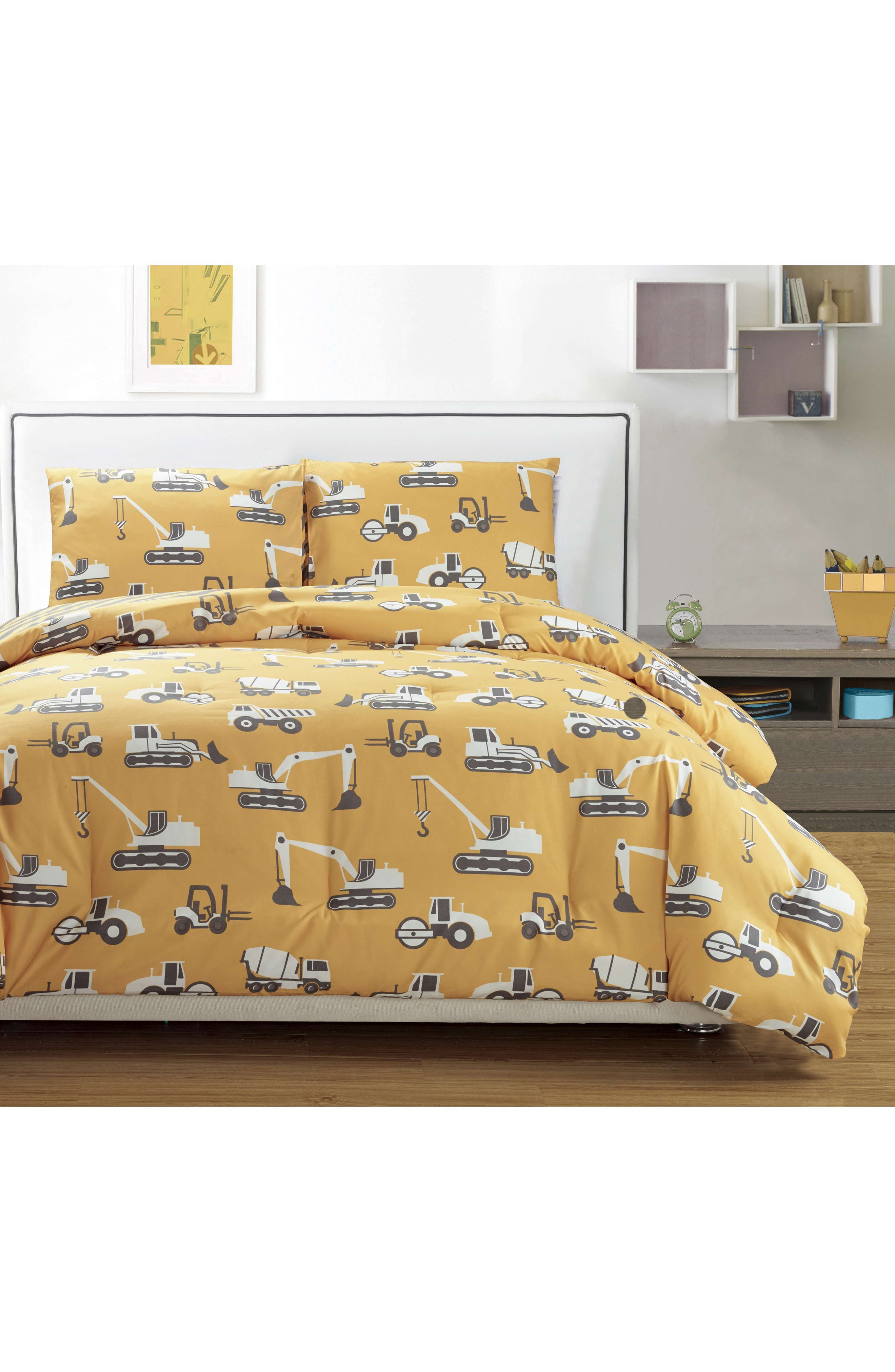 Tommy Comforter & Sham Set,                             Main thumbnail 1, color,                             Yellow