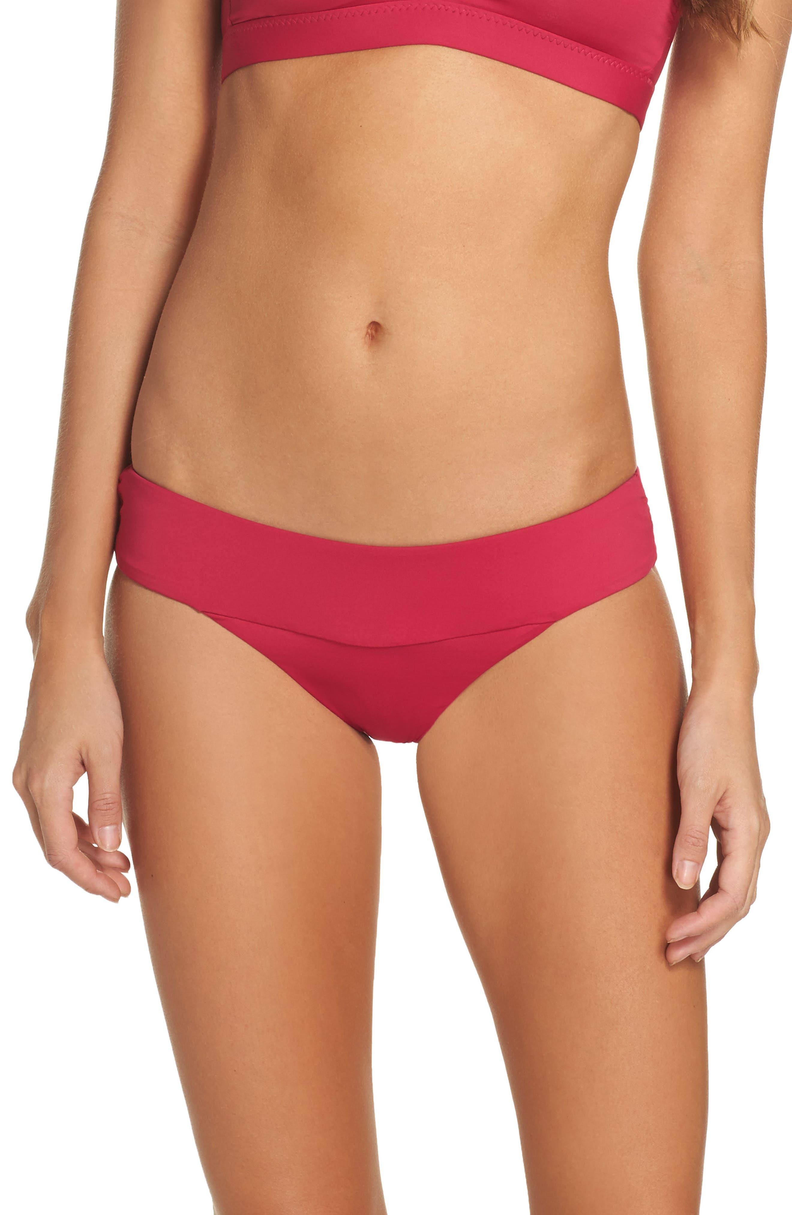 Color Splash Bikini Bottoms,                             Main thumbnail 1, color,                             Raspberry