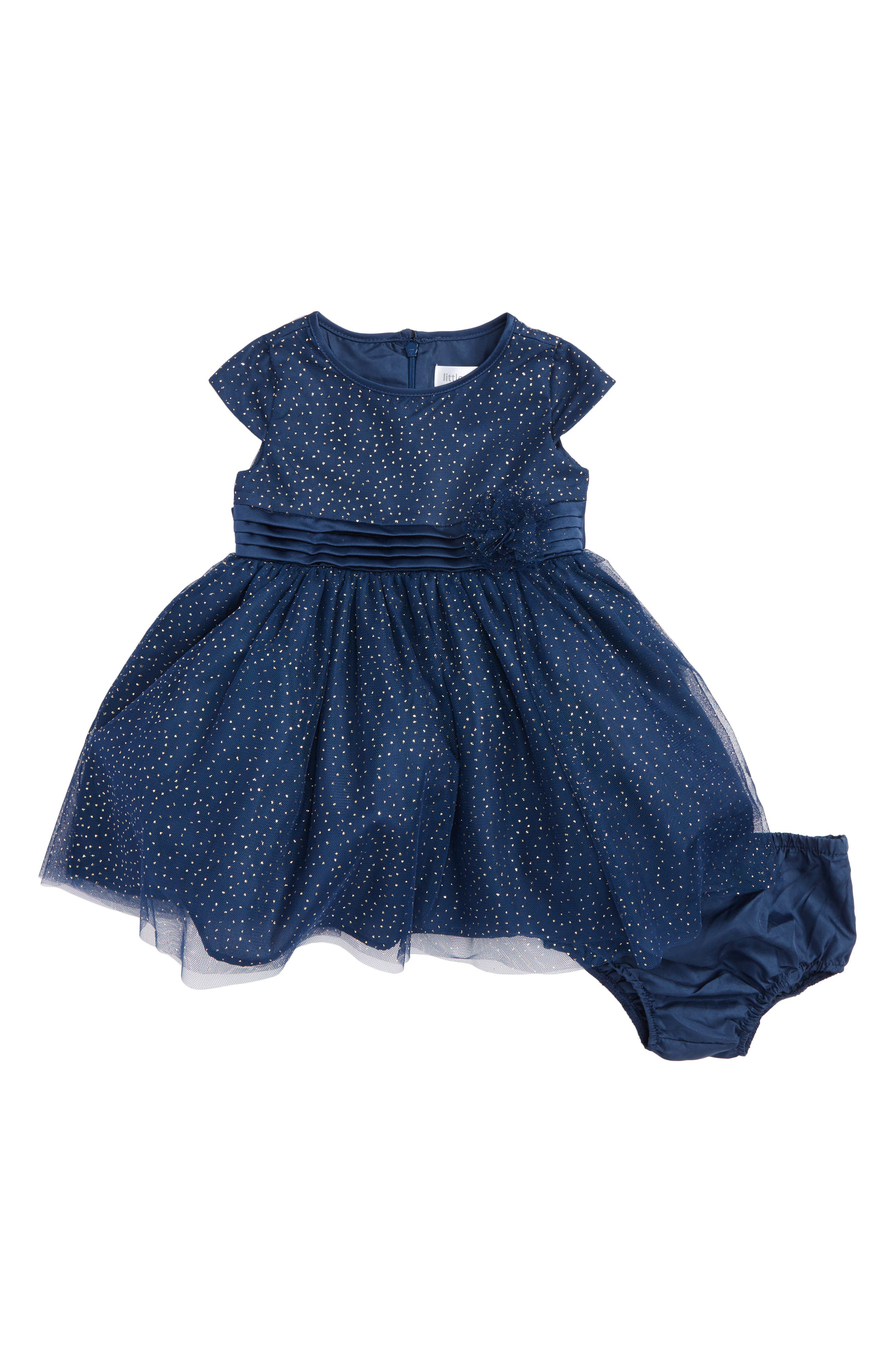 Us Angels Sparkle Dot Dress (Baby Girls)
