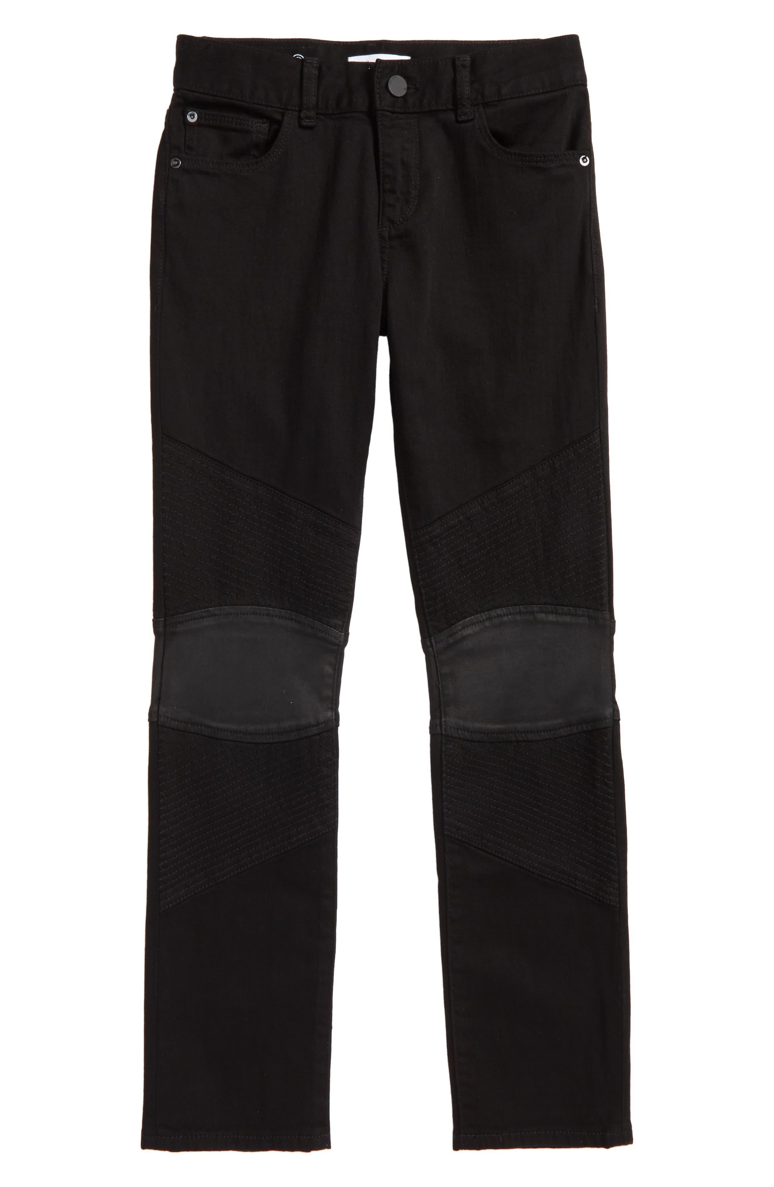 DL1961 Hawke Skinny Knit Moto Jeans (Big Boys)