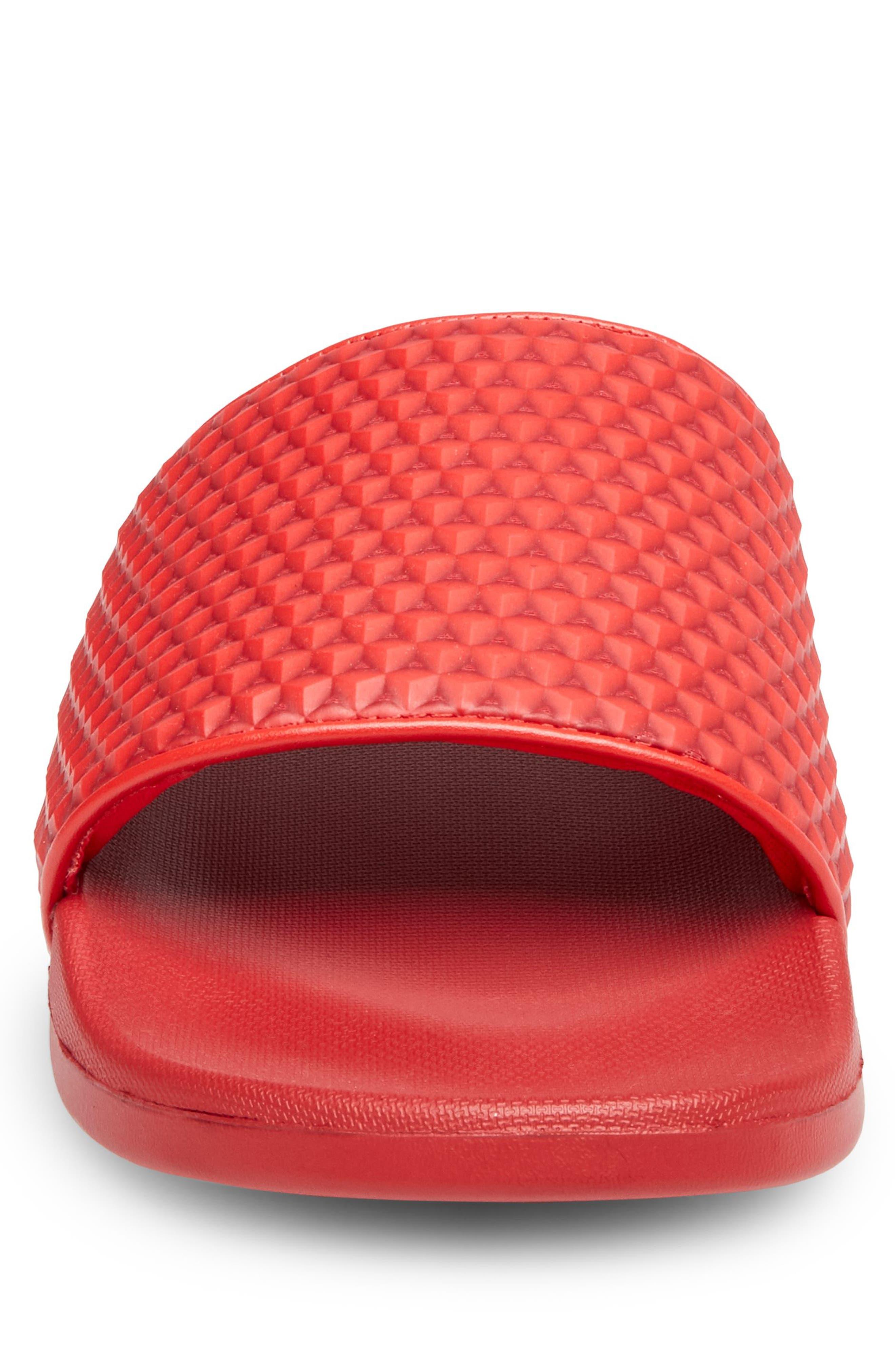Riptide Slide Sandal,                             Alternate thumbnail 4, color,                             Red