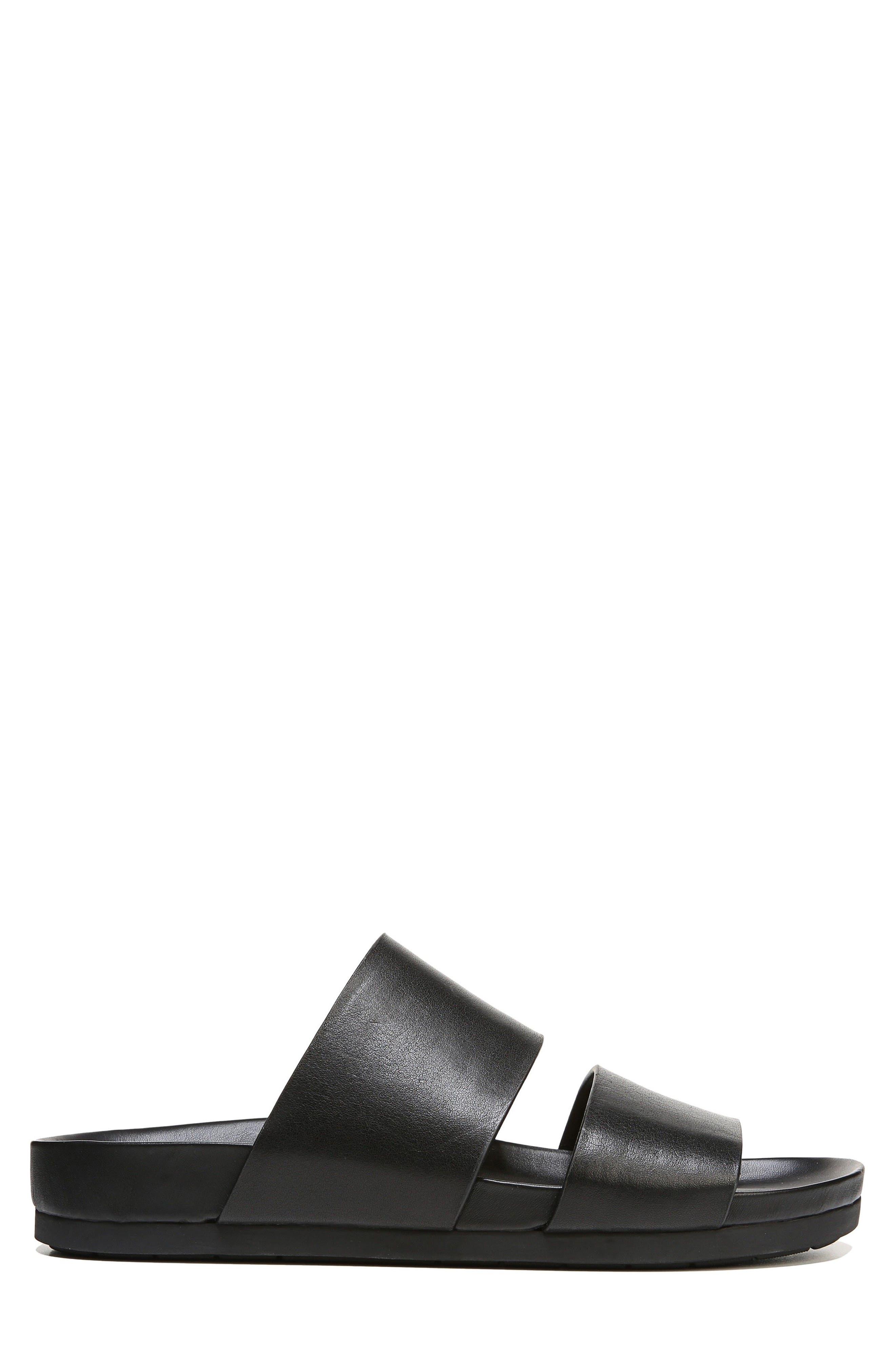 Malibu Slide Sandal,                             Alternate thumbnail 3, color,                             Black
