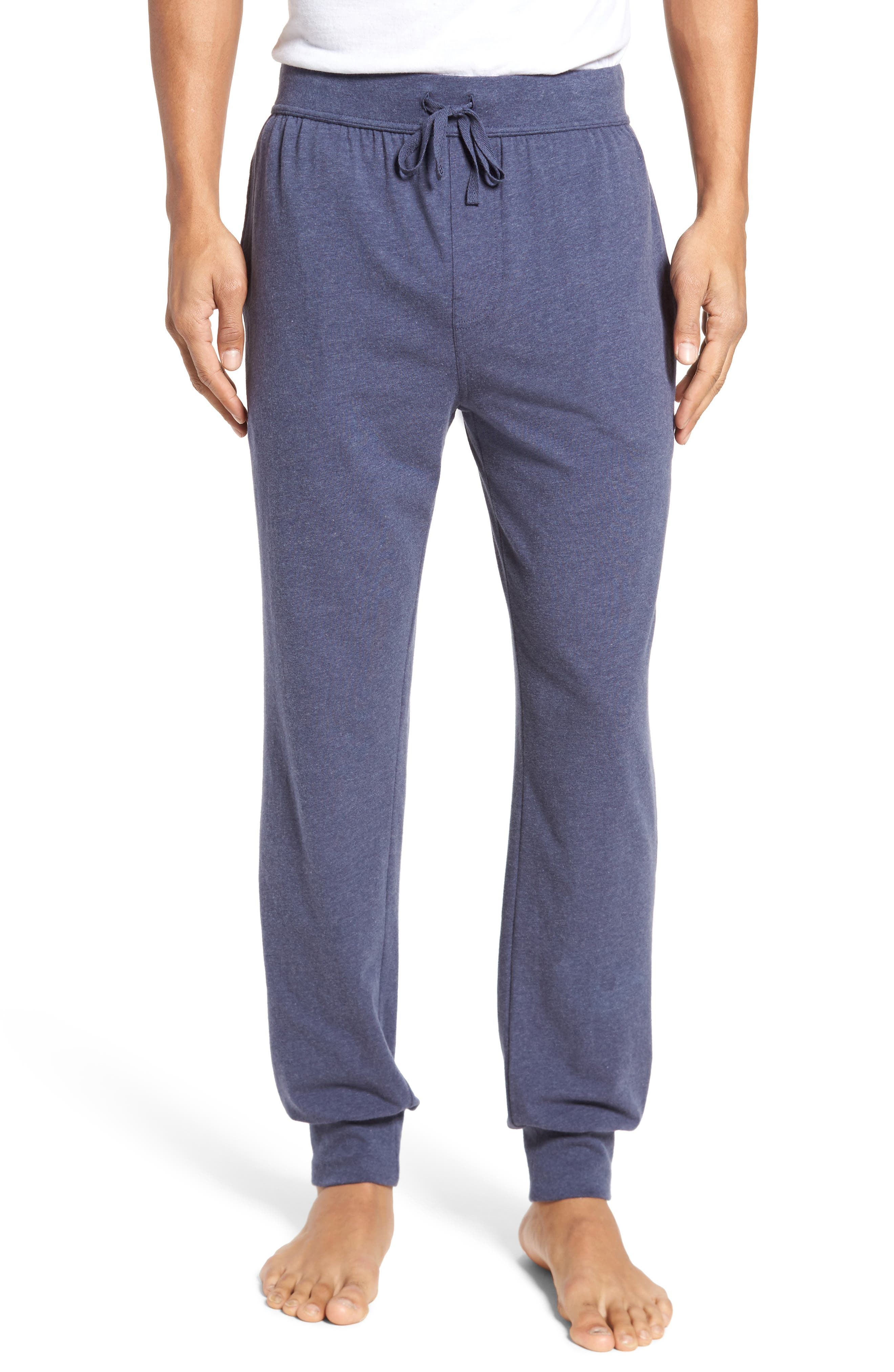Stretch Cotton Lounge Pants,                         Main,                         color, Blue Denim