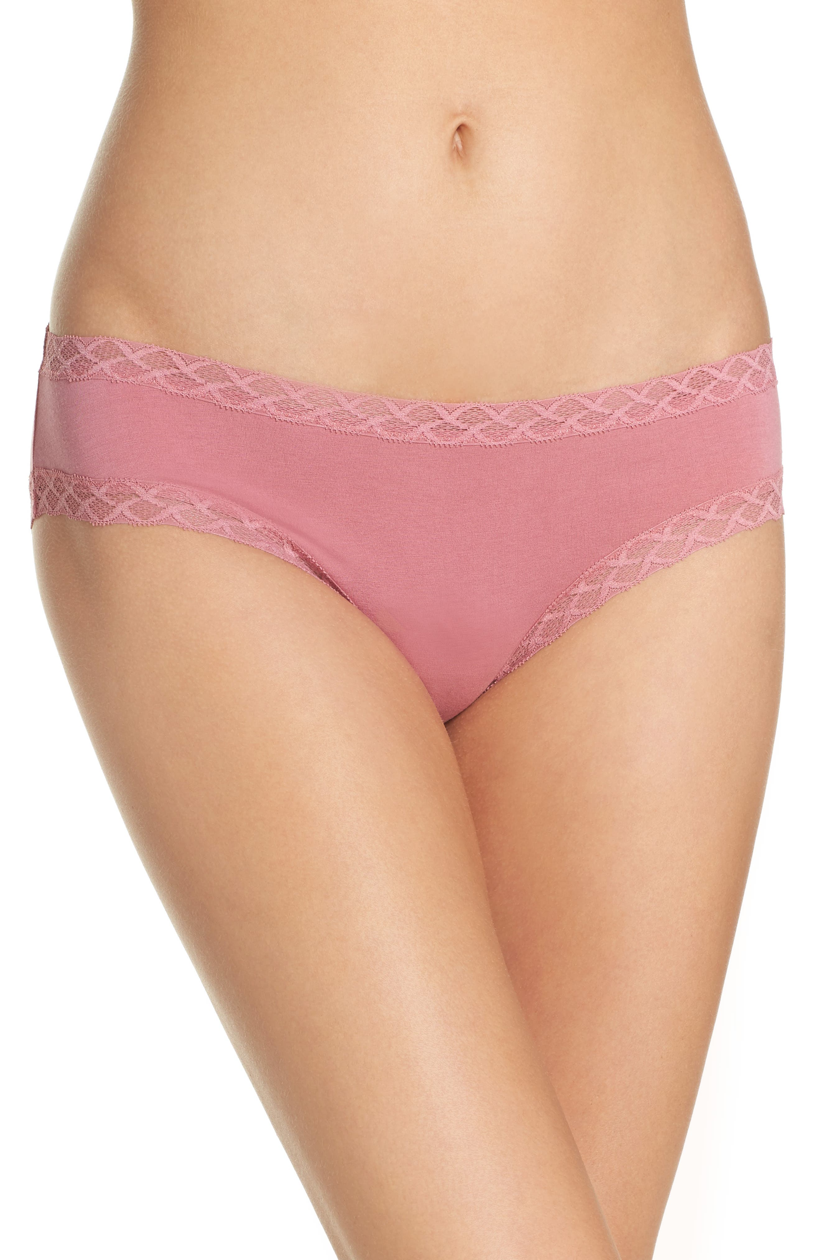 Alternate Image 1 Selected - Natori Bliss Cotton Girl Briefs (3 for $45)
