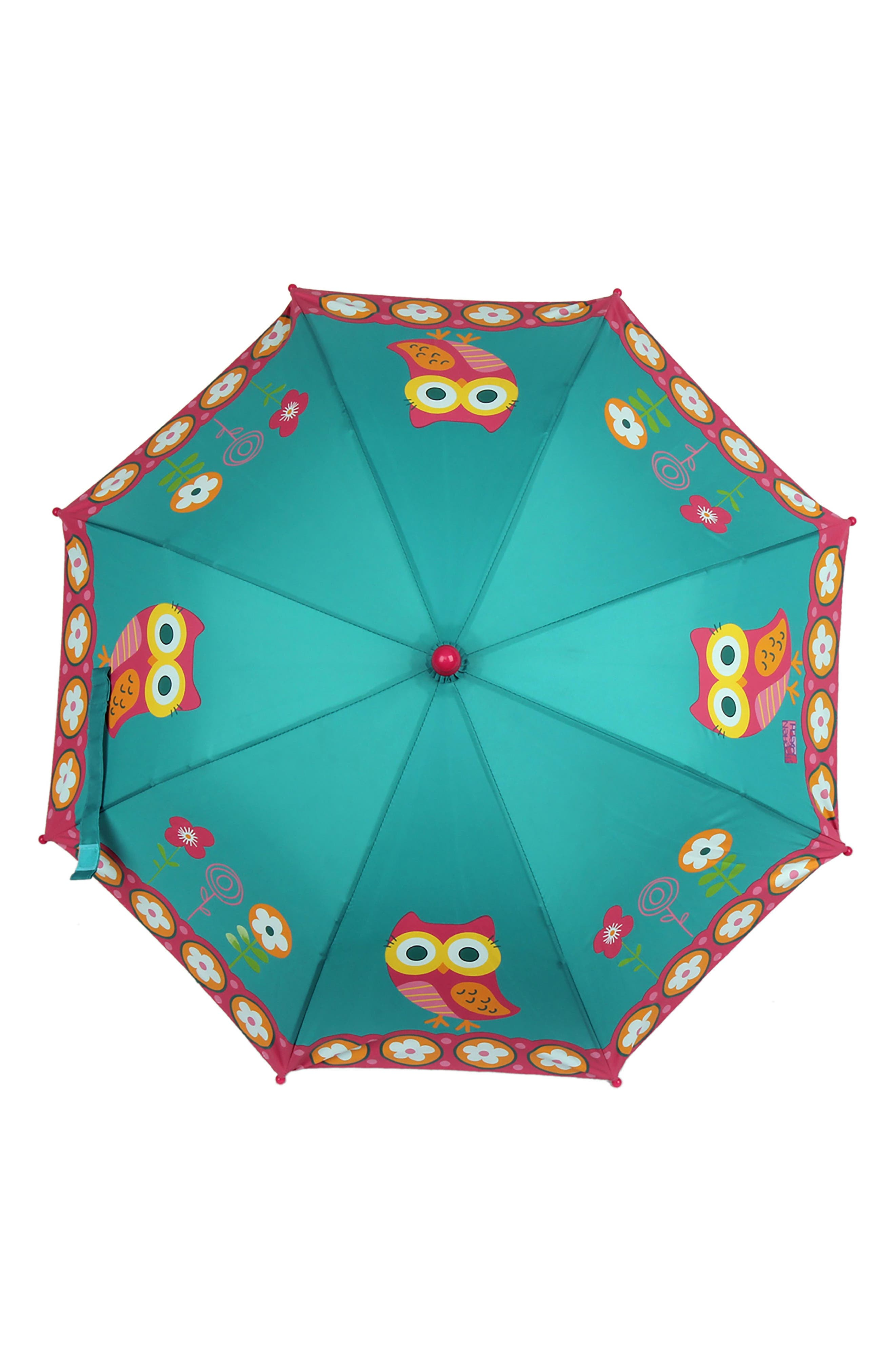 Alternate Image 6  - Stephen Joseph Owl Rain Boots & Umbrella Set (Little Girls & Big Girls)