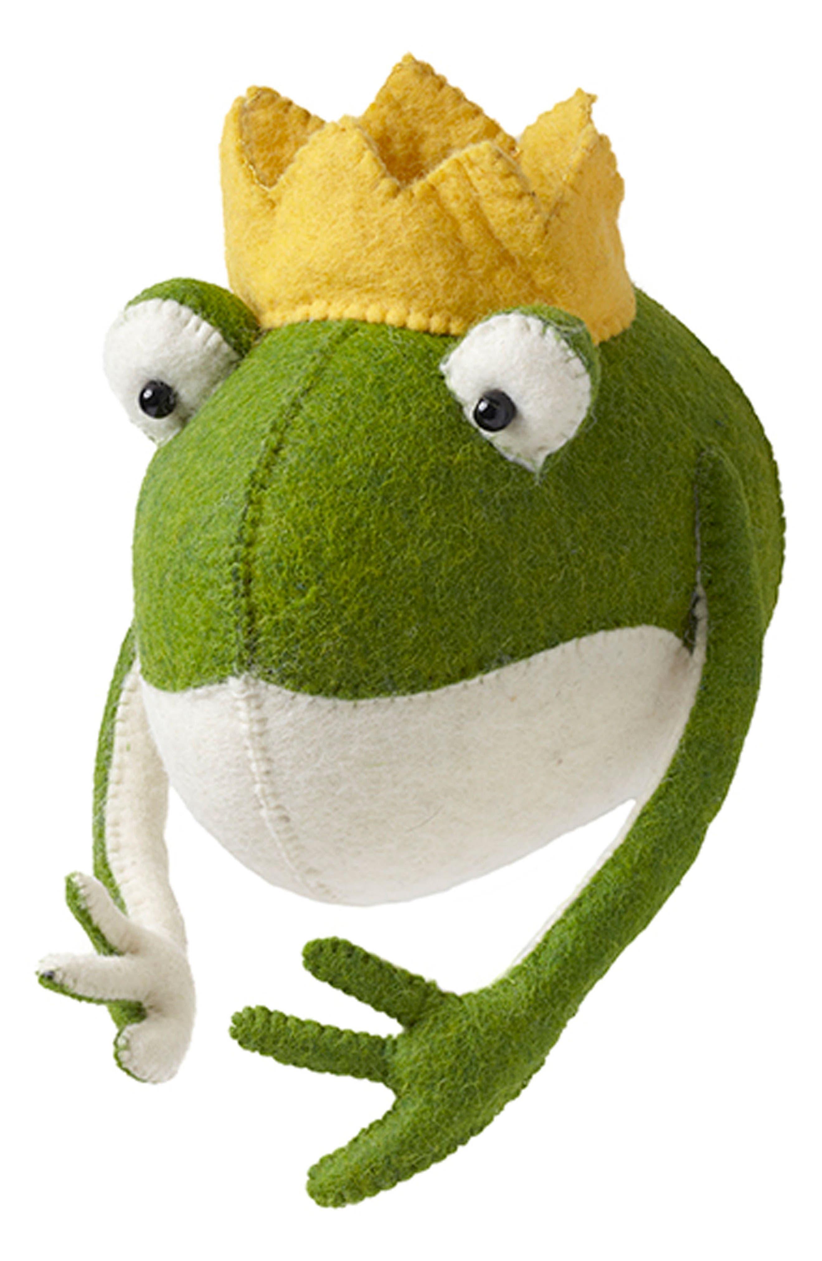 Frog Prince Head Wall Art,                             Alternate thumbnail 3, color,                             Green