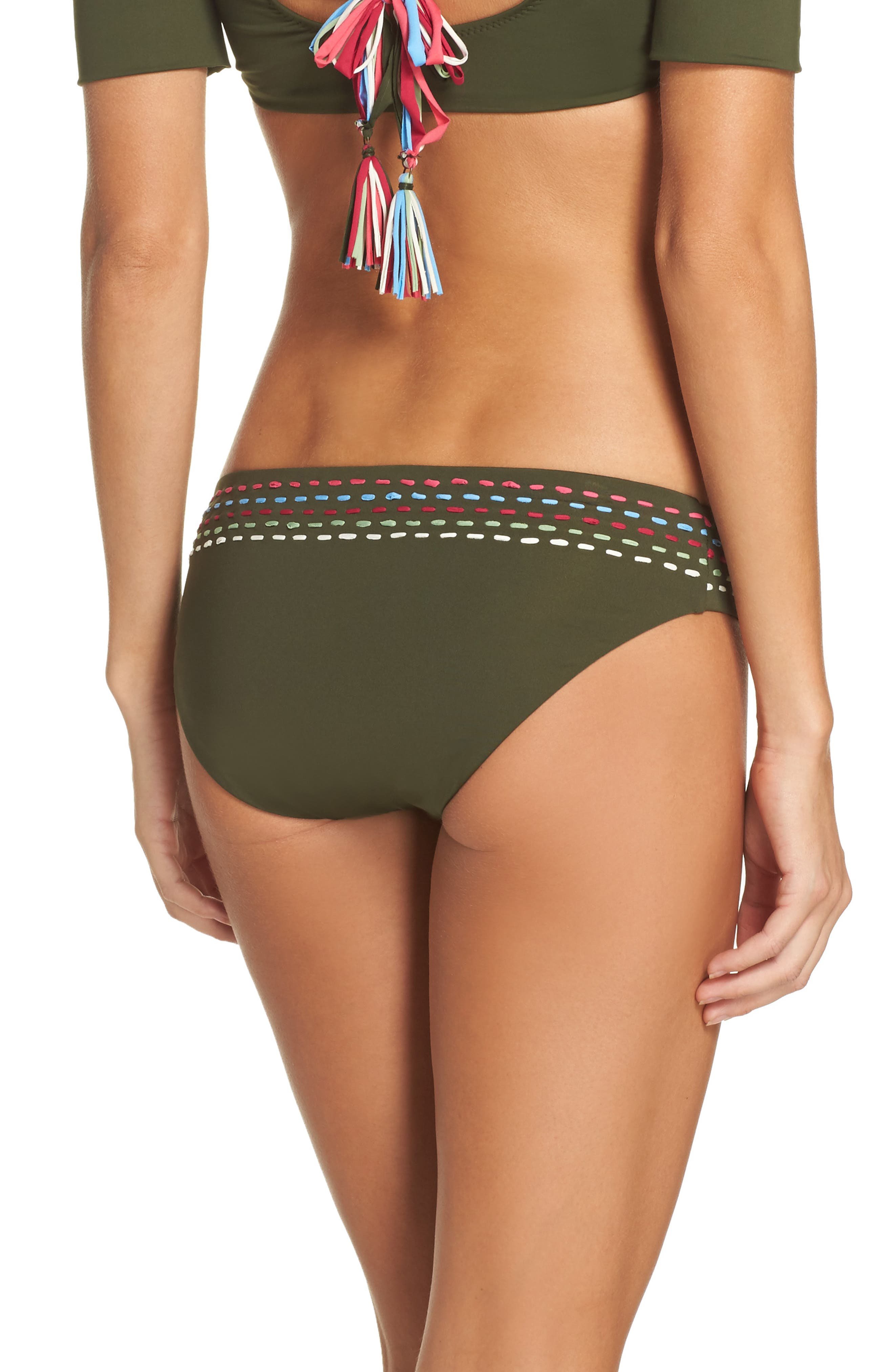 Quest American Bikini Bottoms,                             Alternate thumbnail 2, color,                             Bay Leaf