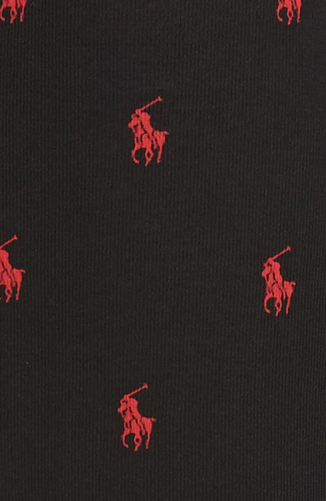 3-Pack Cotton Boxer Briefs,                             Alternate thumbnail 5, color,                             Black/ Black Stripe/ Red