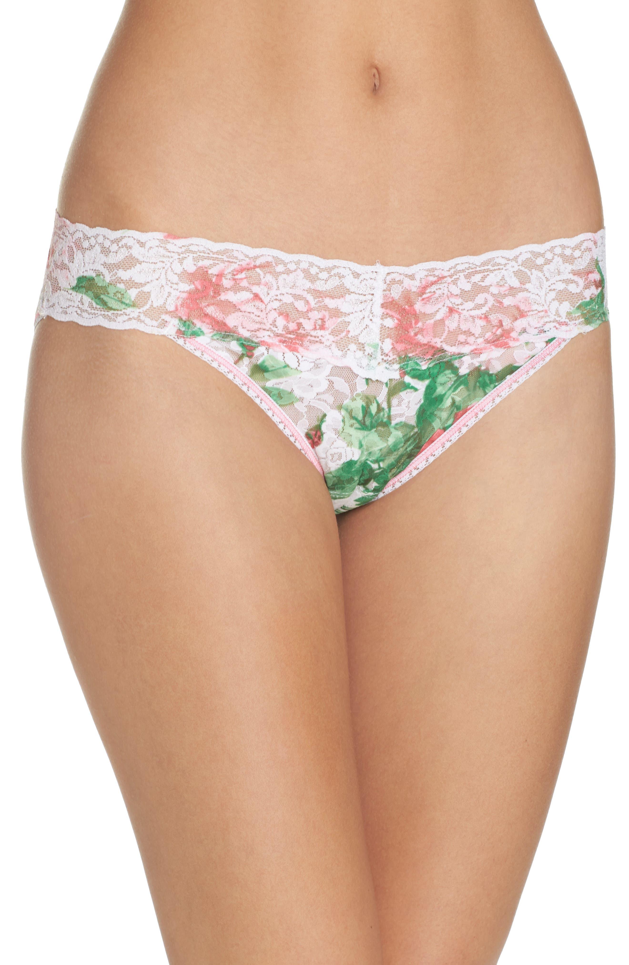 Print V-Kini Bikini,                             Main thumbnail 1, color,                             Pink Floral