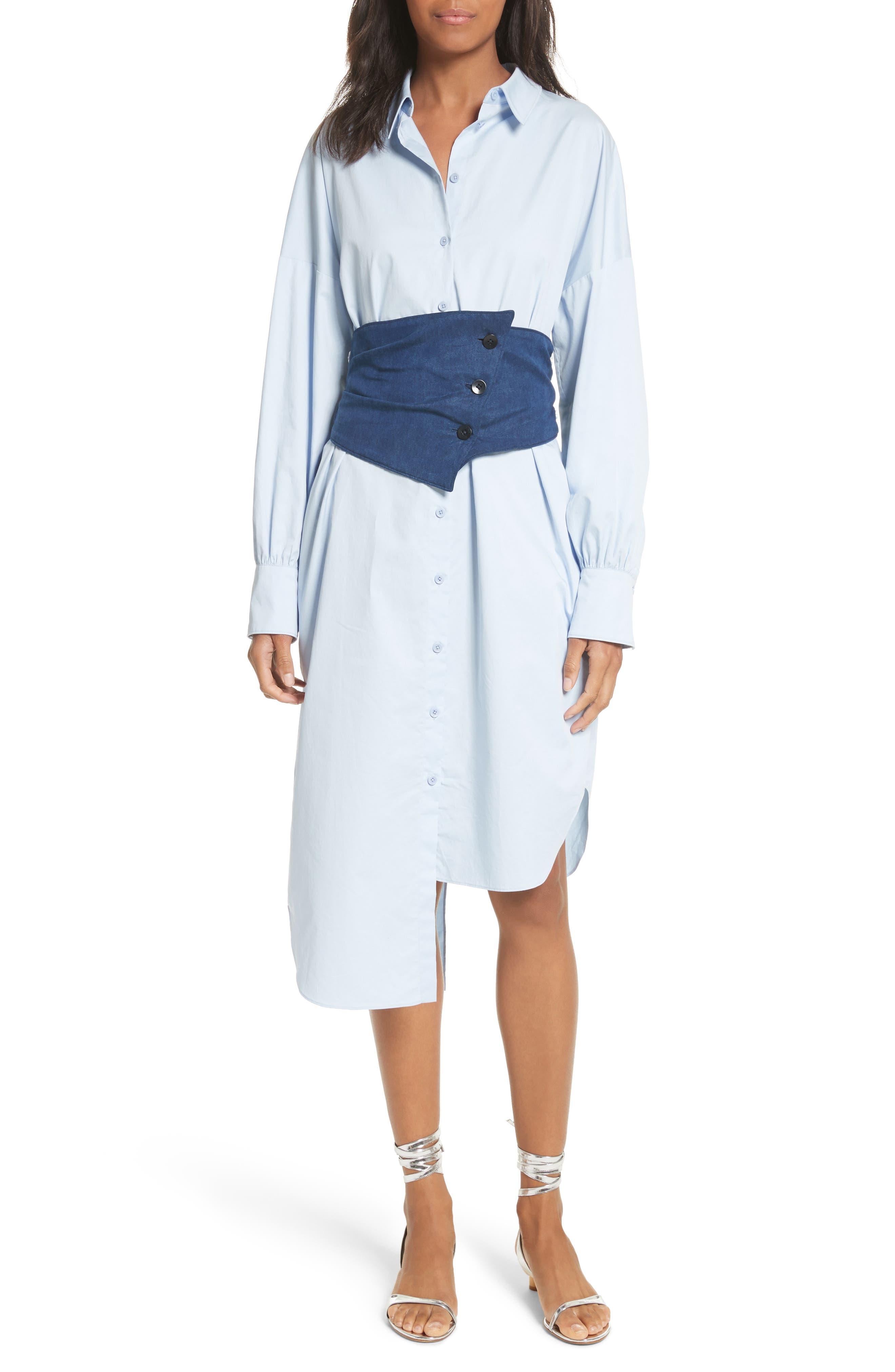 Main Image - Tibi Corset Shirtdress