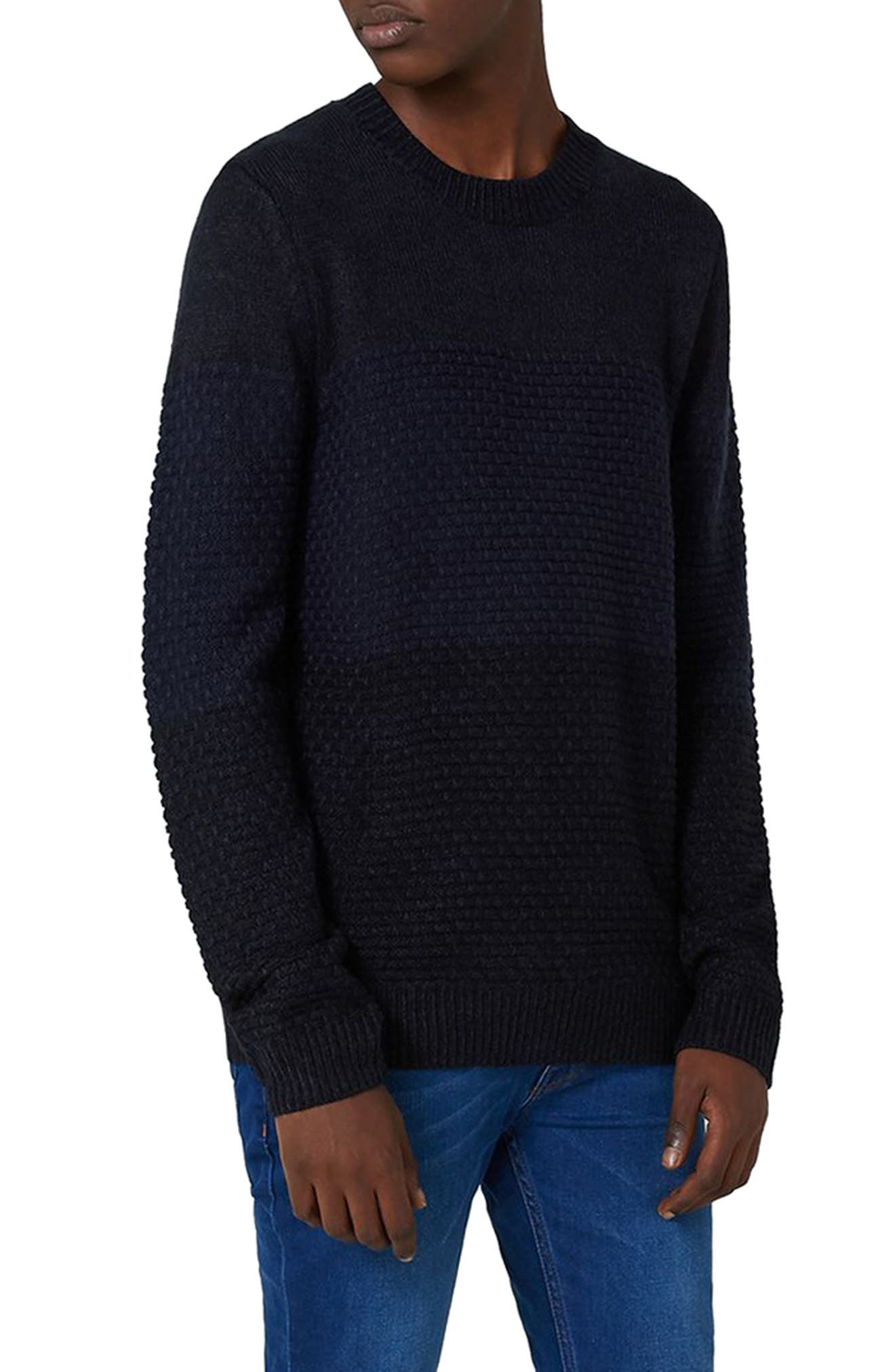 Topman Texture Panel Sweater