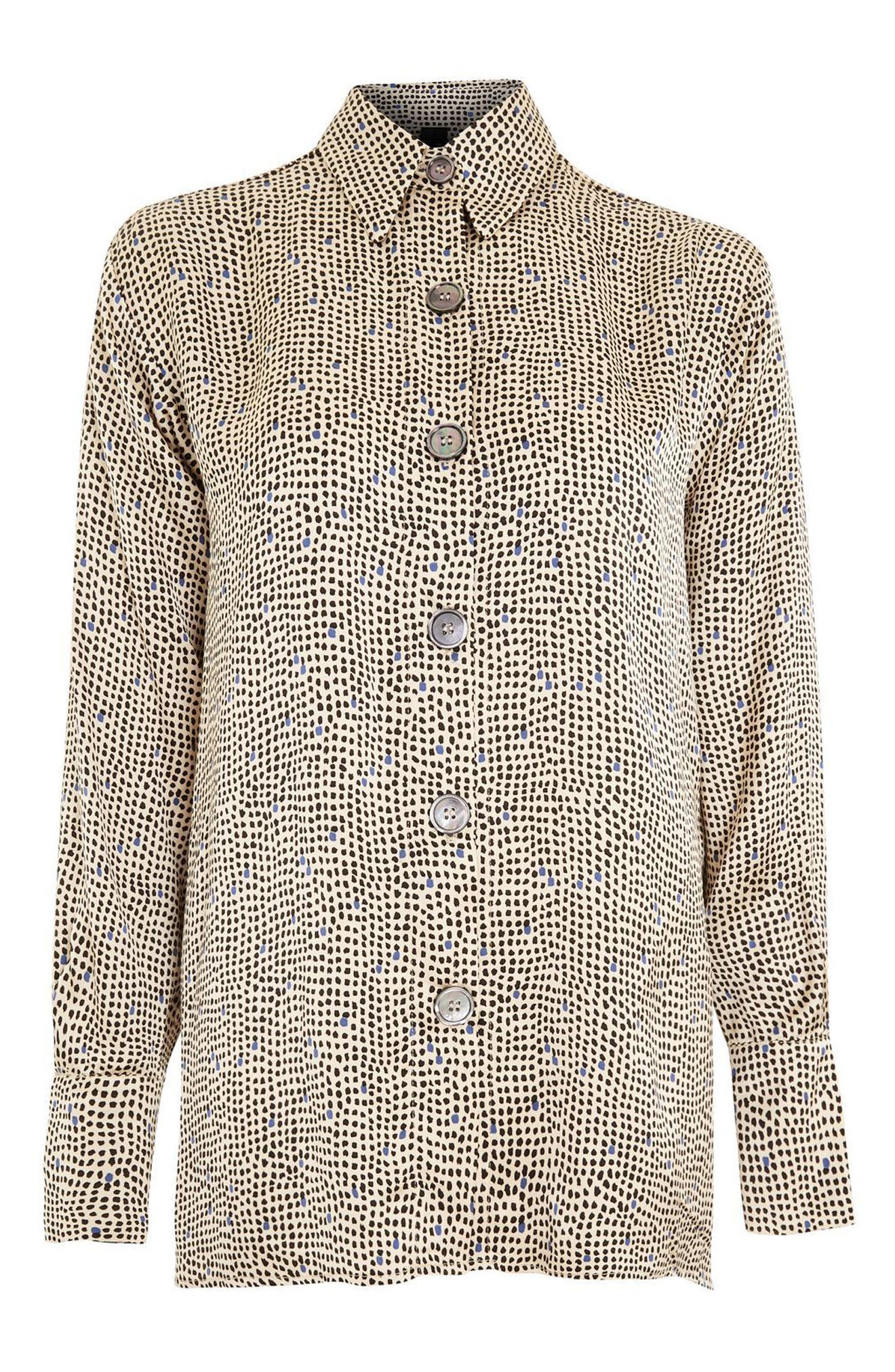 Main Image - Topshop Boutique Mini Spot Shirt