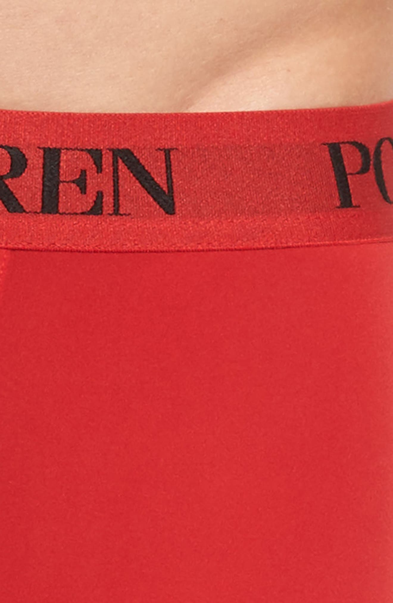 Microfiber Boxer Briefs,                             Alternate thumbnail 4, color,                             Rl2000 Red/ Polo Black