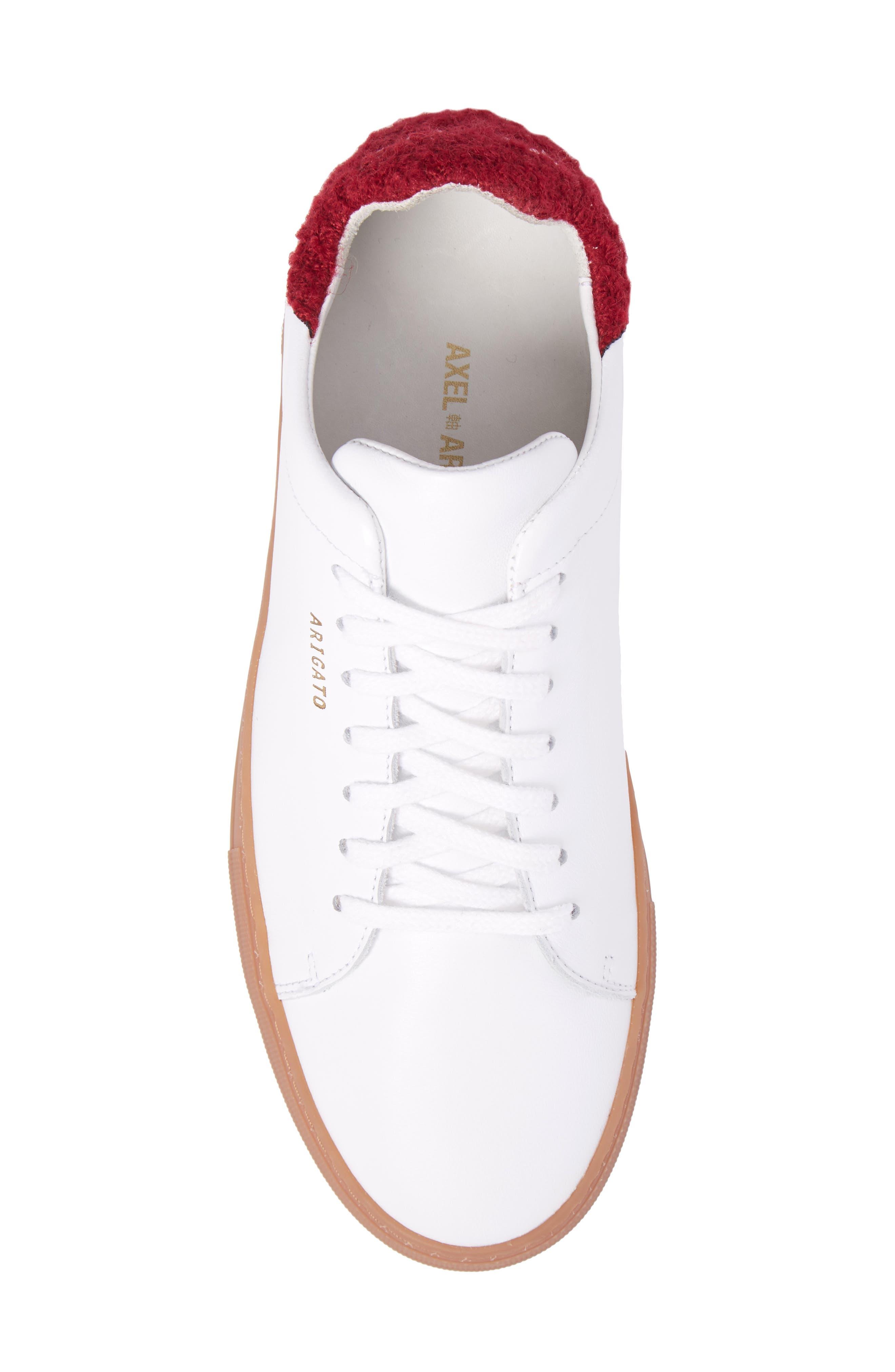 Clean 360 Fuzzy Heel Sneaker,                             Alternate thumbnail 5, color,                             White