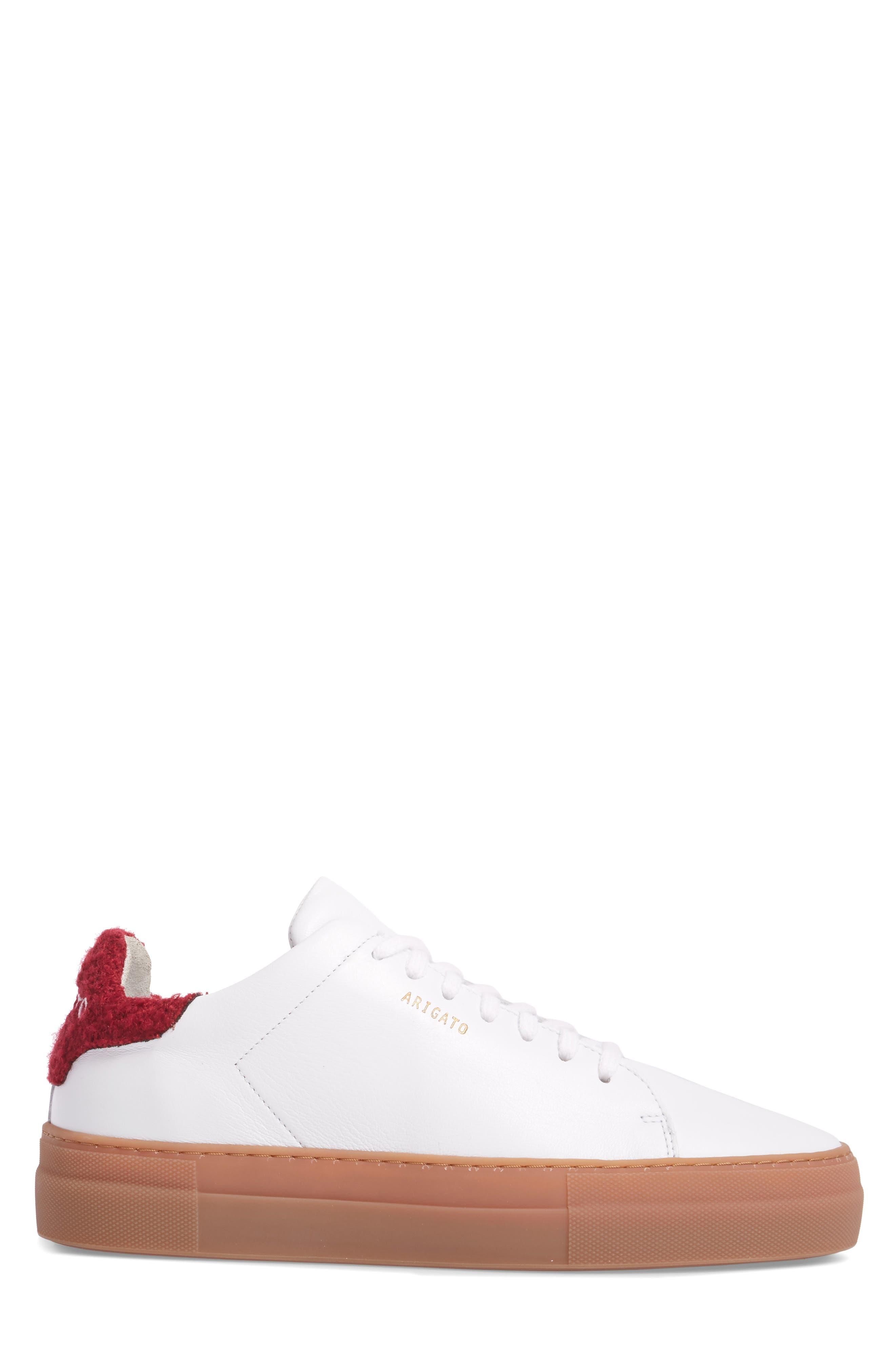 Clean 360 Fuzzy Heel Sneaker,                             Alternate thumbnail 3, color,                             White