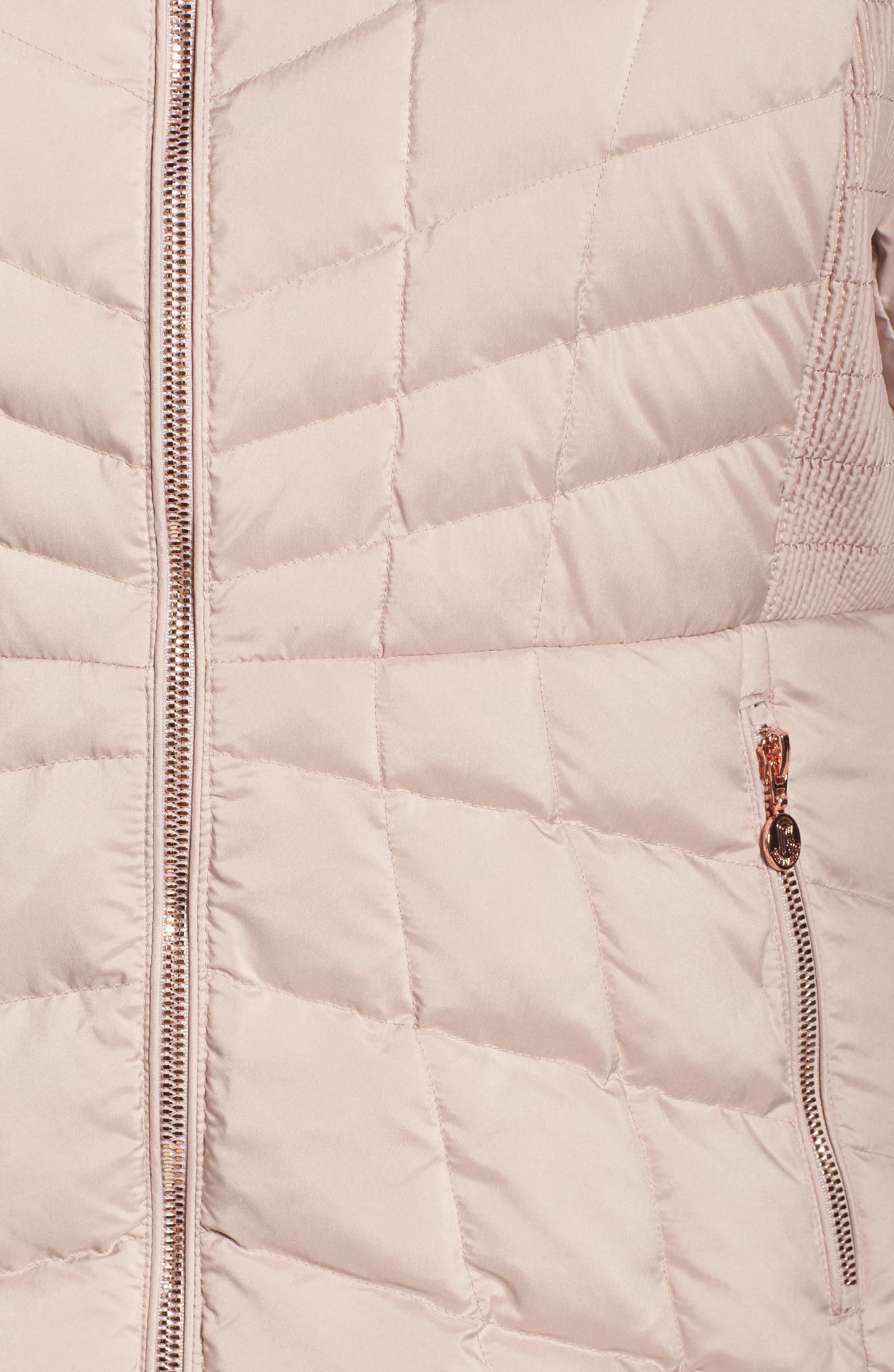 Packable Water Resistant Down & PrimaLoft<sup>®</sup> Coat,                             Alternate thumbnail 5, color,                             Petal Pink/ Snow Leopard