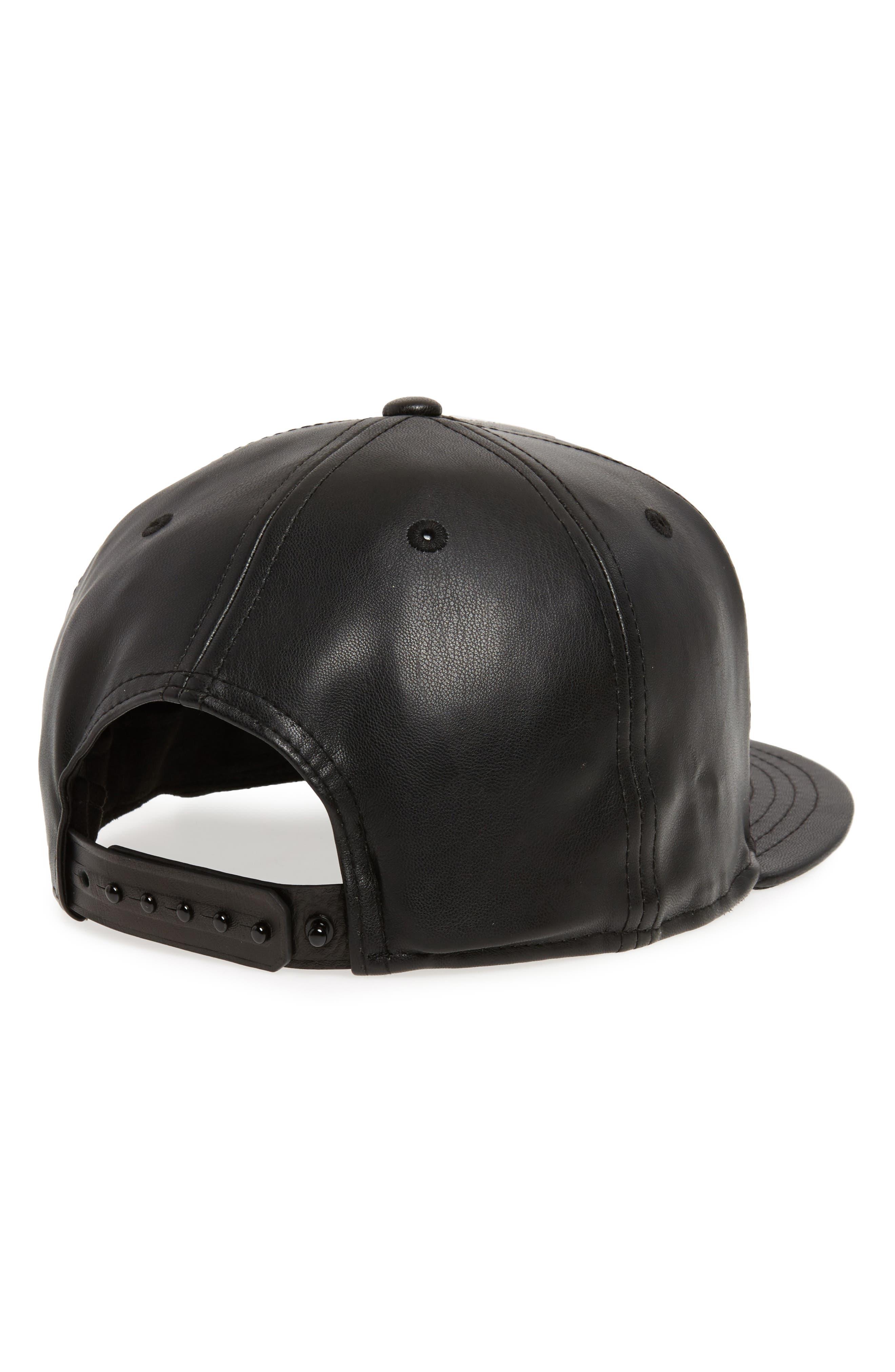 Alternate Image 2  - New Era NBA Glossy Faux Leather Snapback Cap