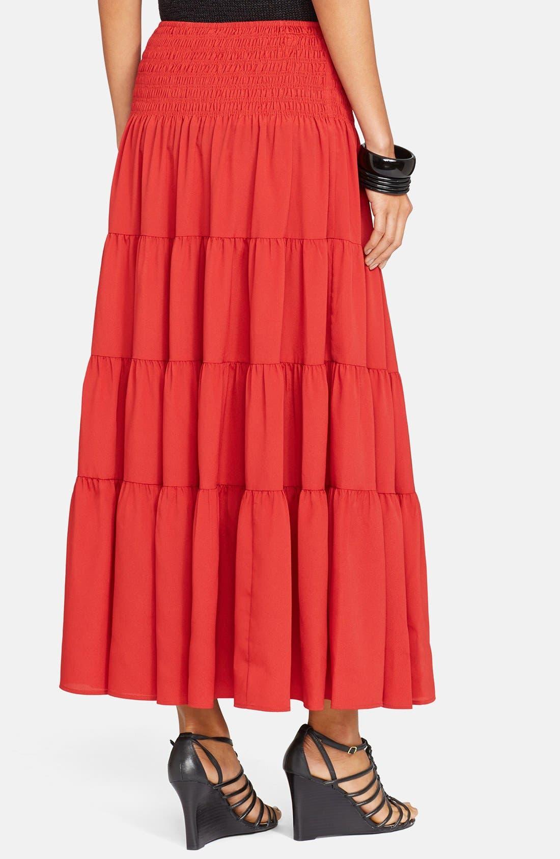 Alternate Image 2  - Lauren Ralph Lauren Ruffled Tier Maxi Skirt