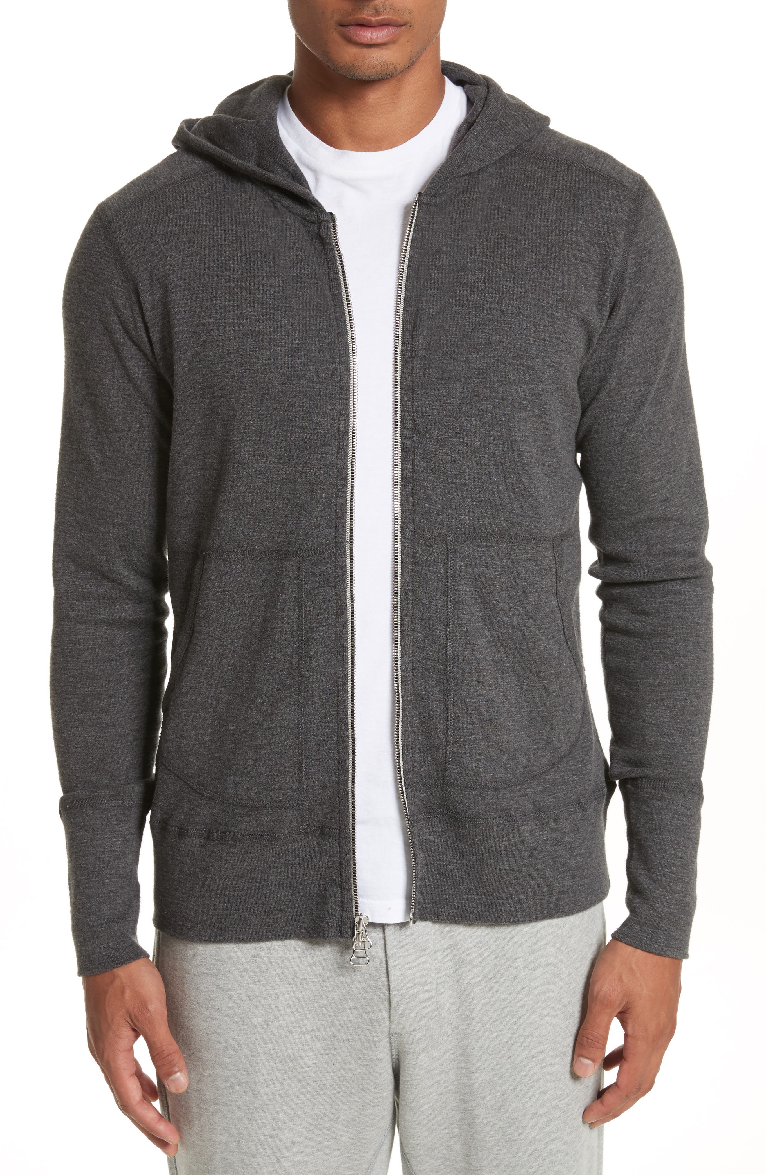 wings + horns Slub Full Zip Hoodie