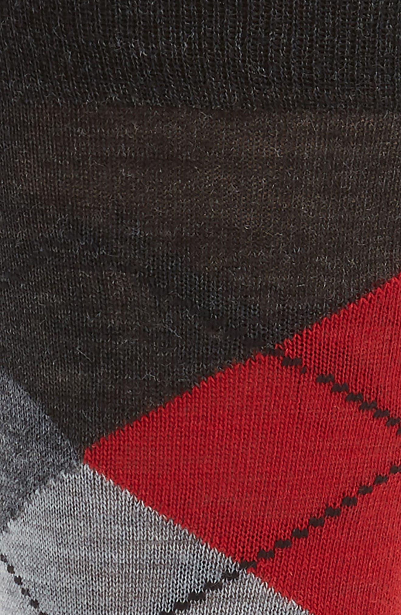 Argyle Socks,                             Alternate thumbnail 2, color,                             Charcoal