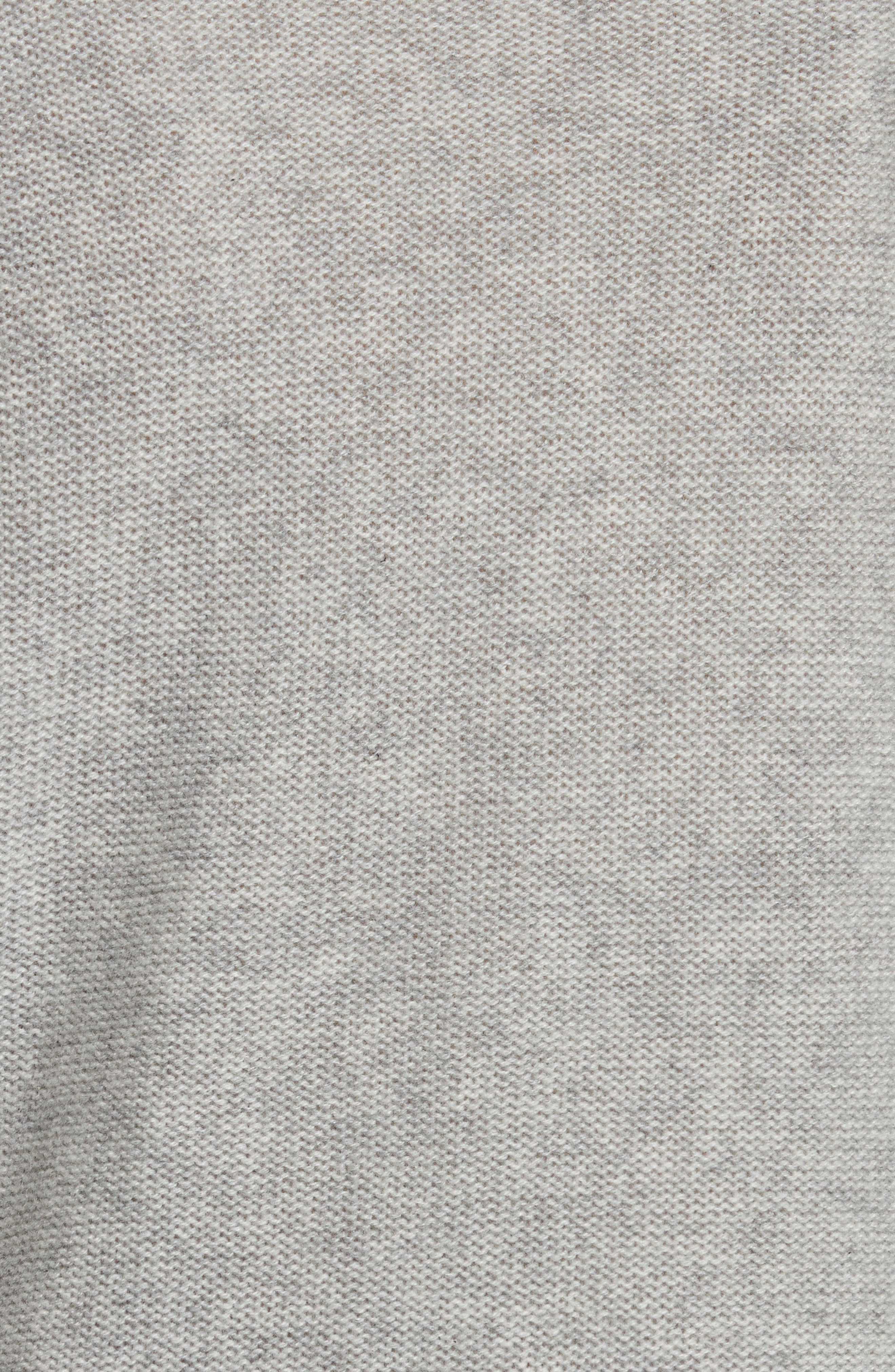 Kenna Cashmere Sweater,                             Alternate thumbnail 5, color,                             Grey