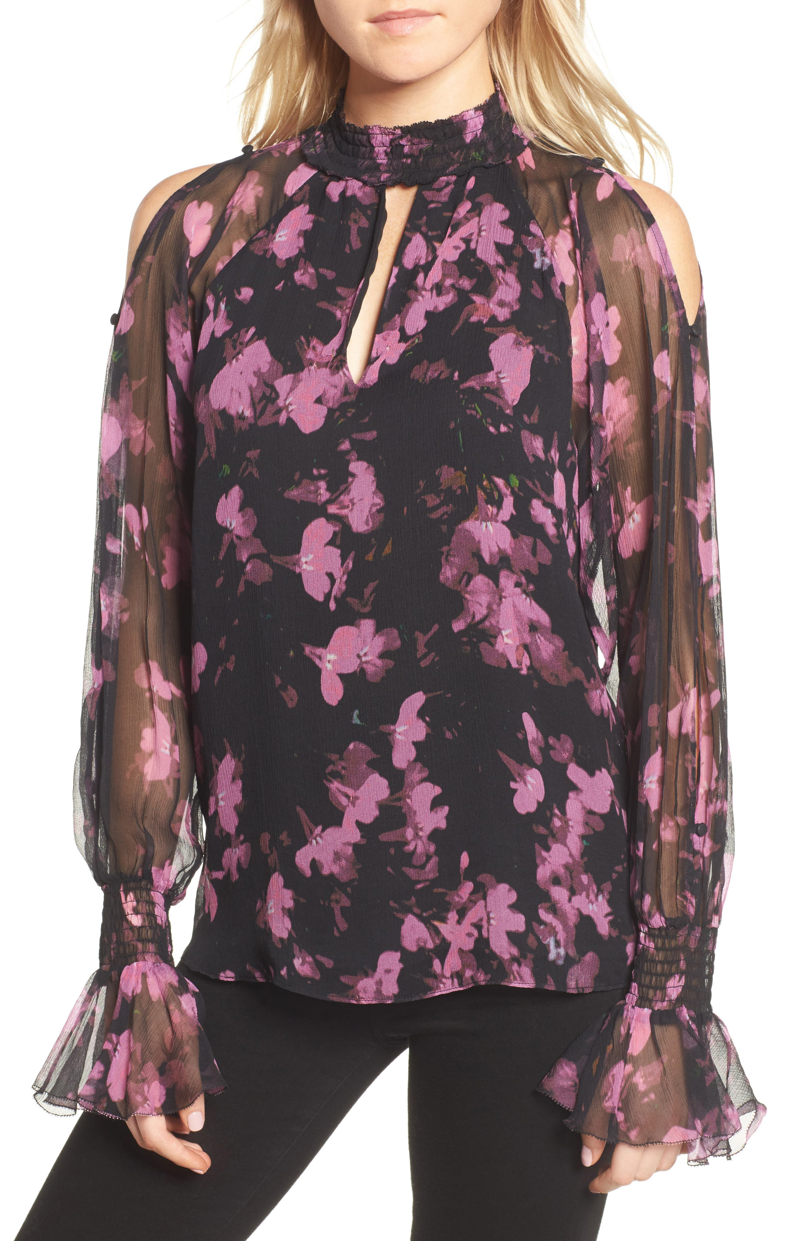 Sabrina Silk Blouse,                         Main,                         color, Petalbloom