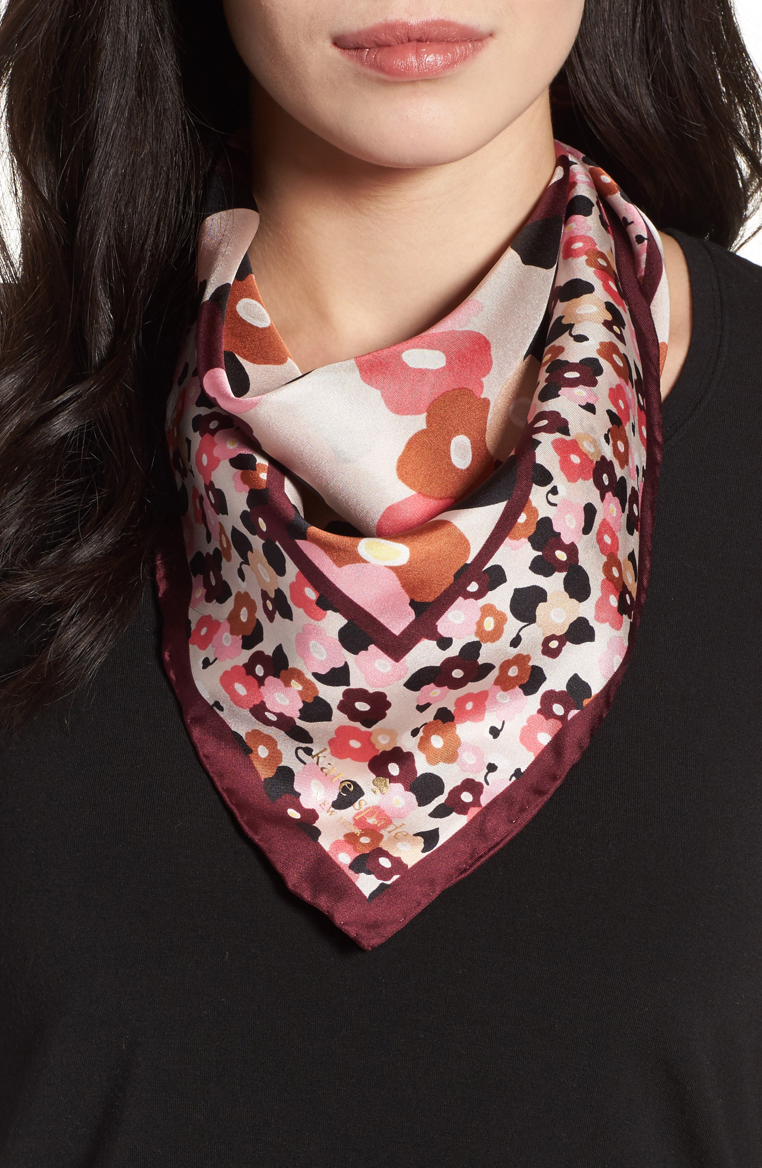kate spade new york blooming silk bandana