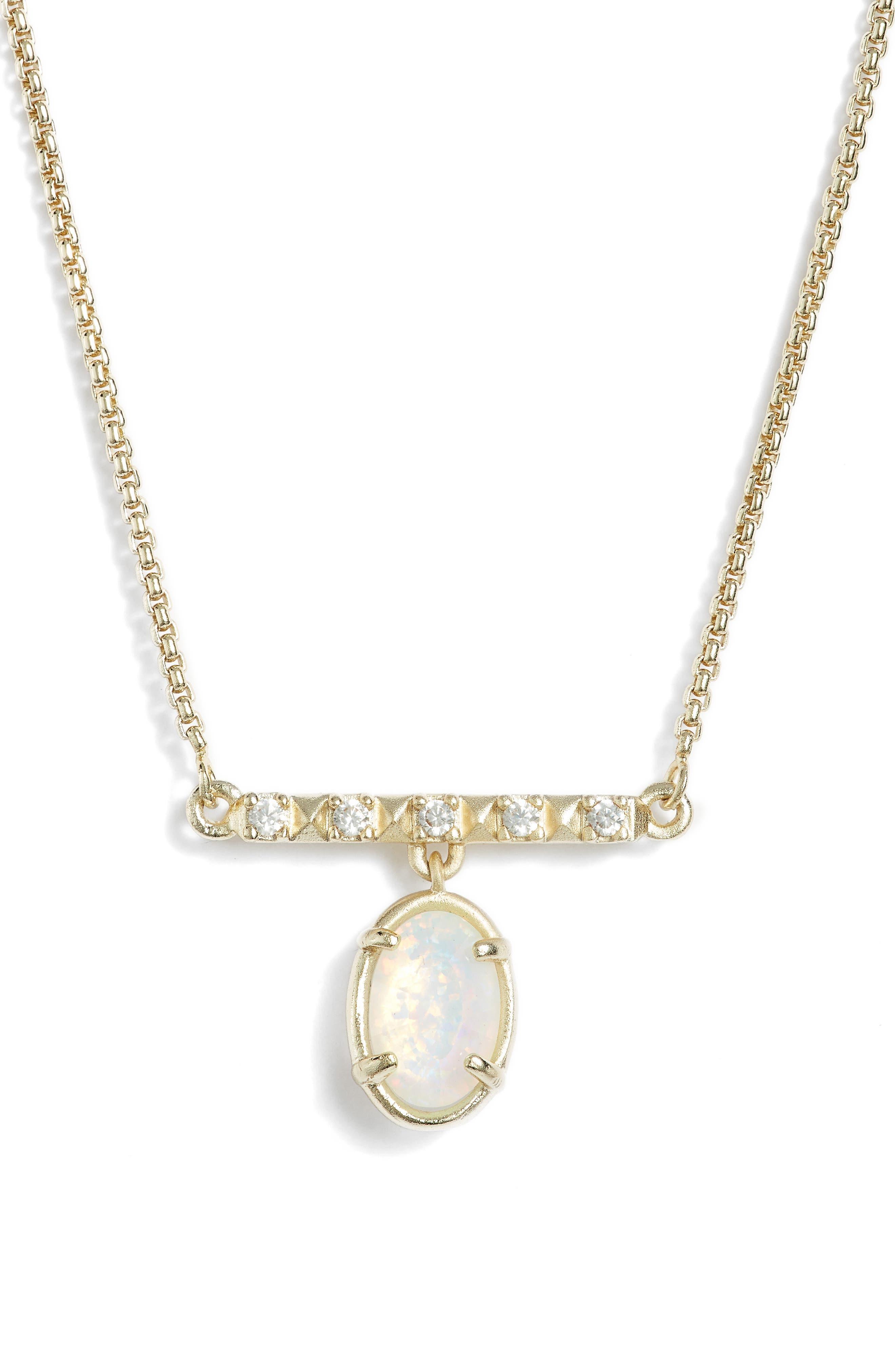 Kendra Scott Fischer Opal Pendant Necklace