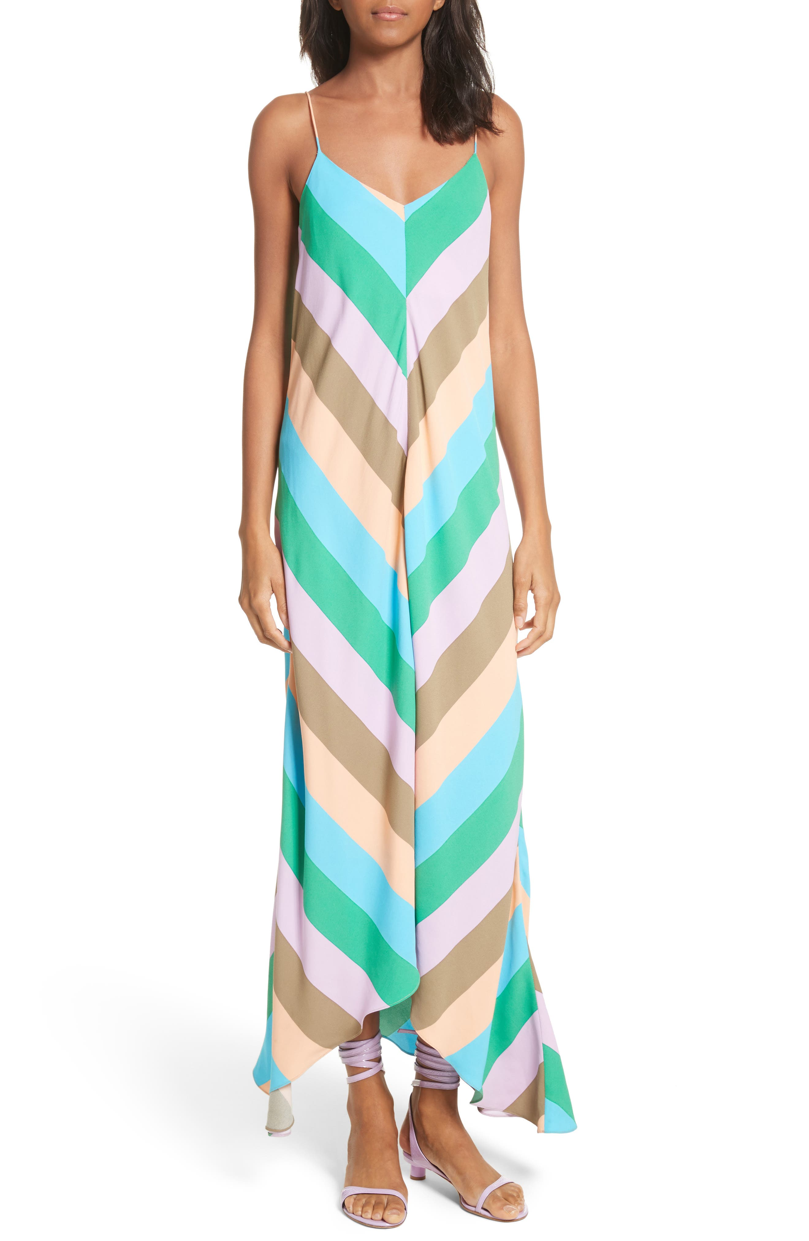 Maxi Slip Dress,                         Main,                         color, Rugby Multi